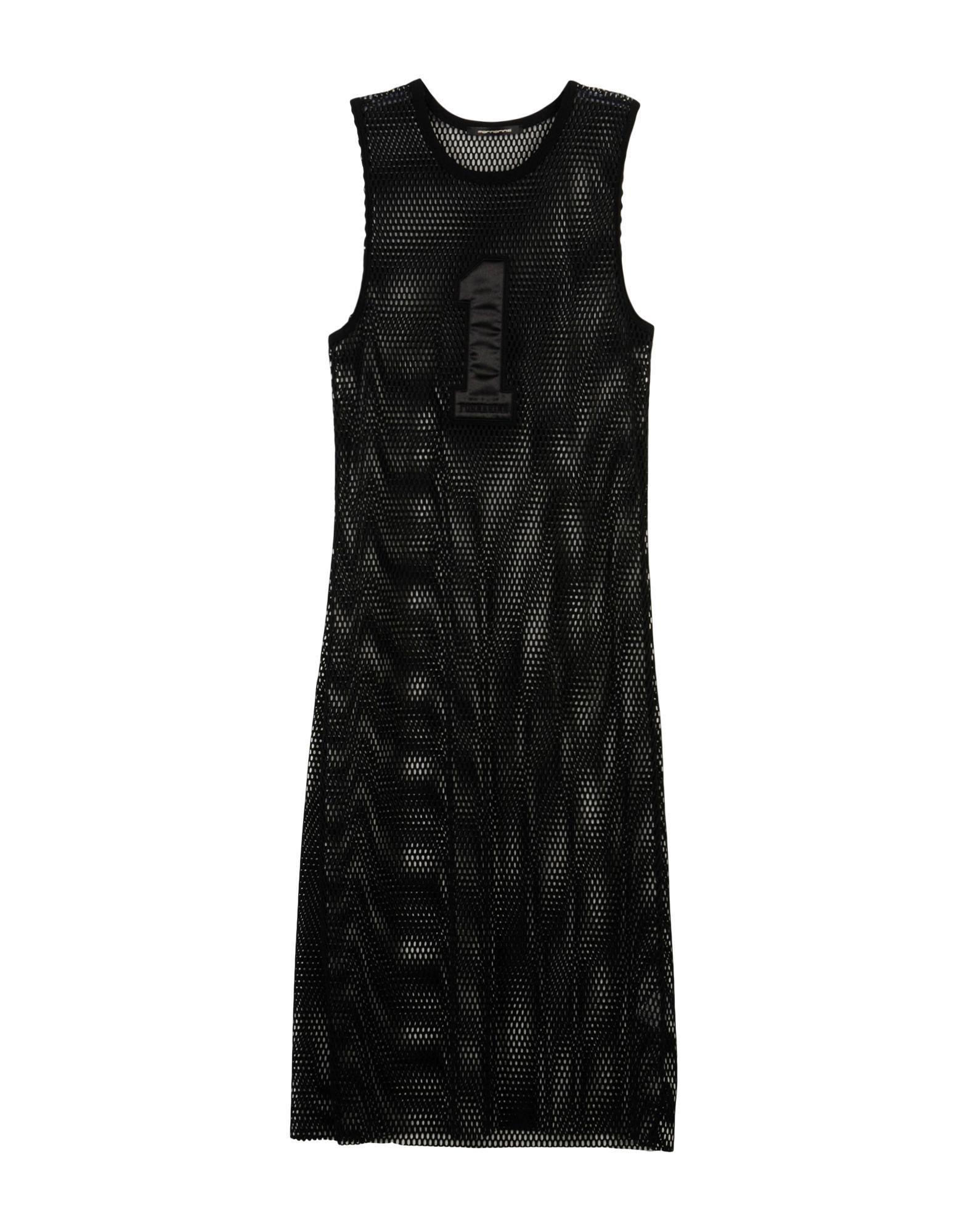 Fornarina Black Techno Fabric Sleeveless Dress