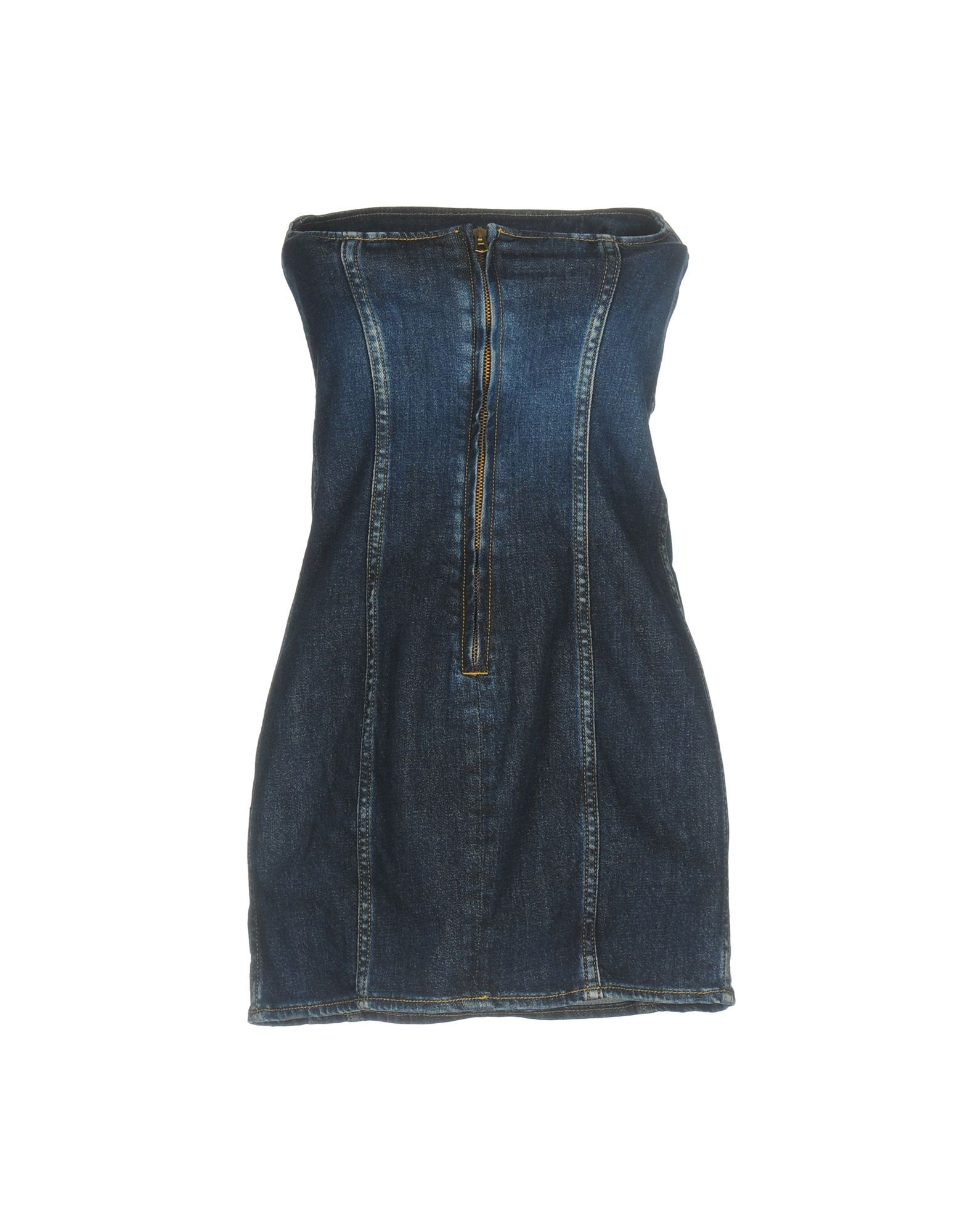 Cycle Blue Denim Strapless Dress