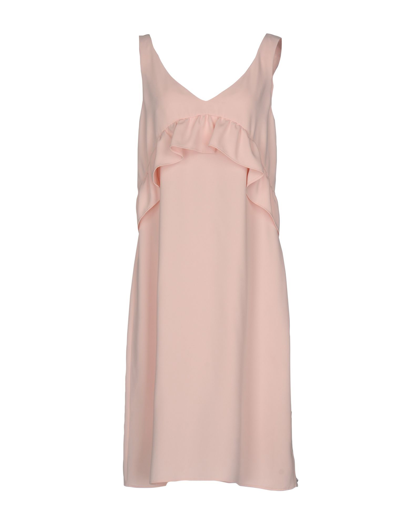 P.A.R.O.S.H. Pink Crepe Ruffle Dress