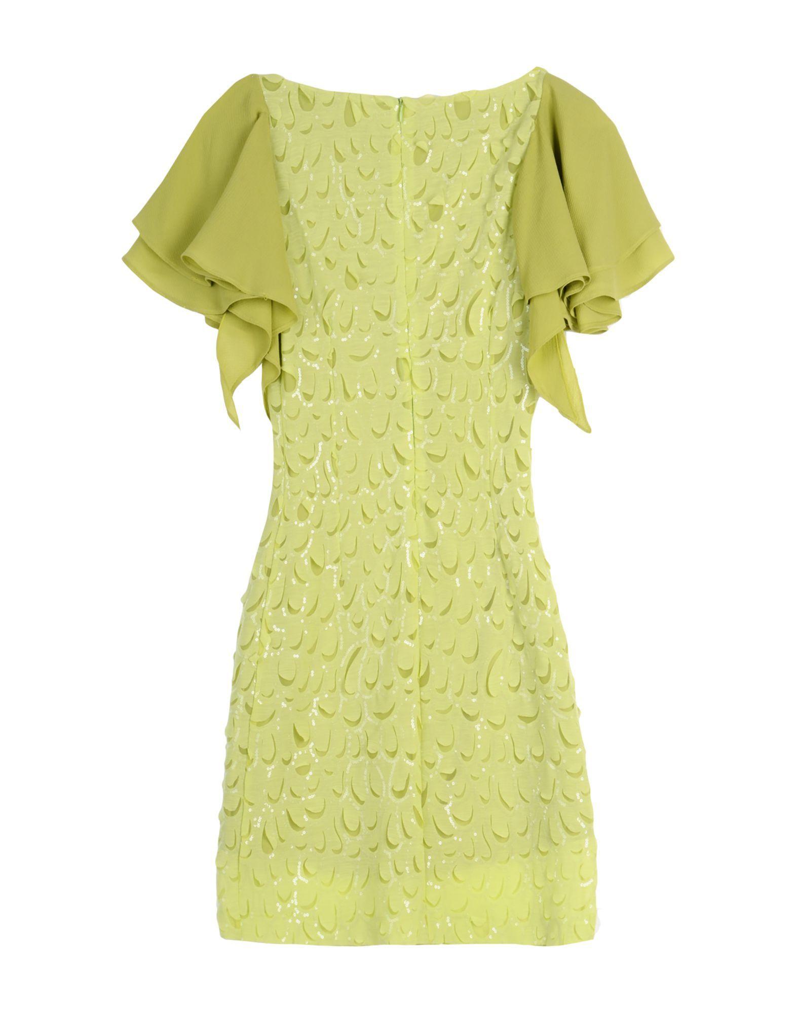 DRESSES Relish Acid green Woman Polyester