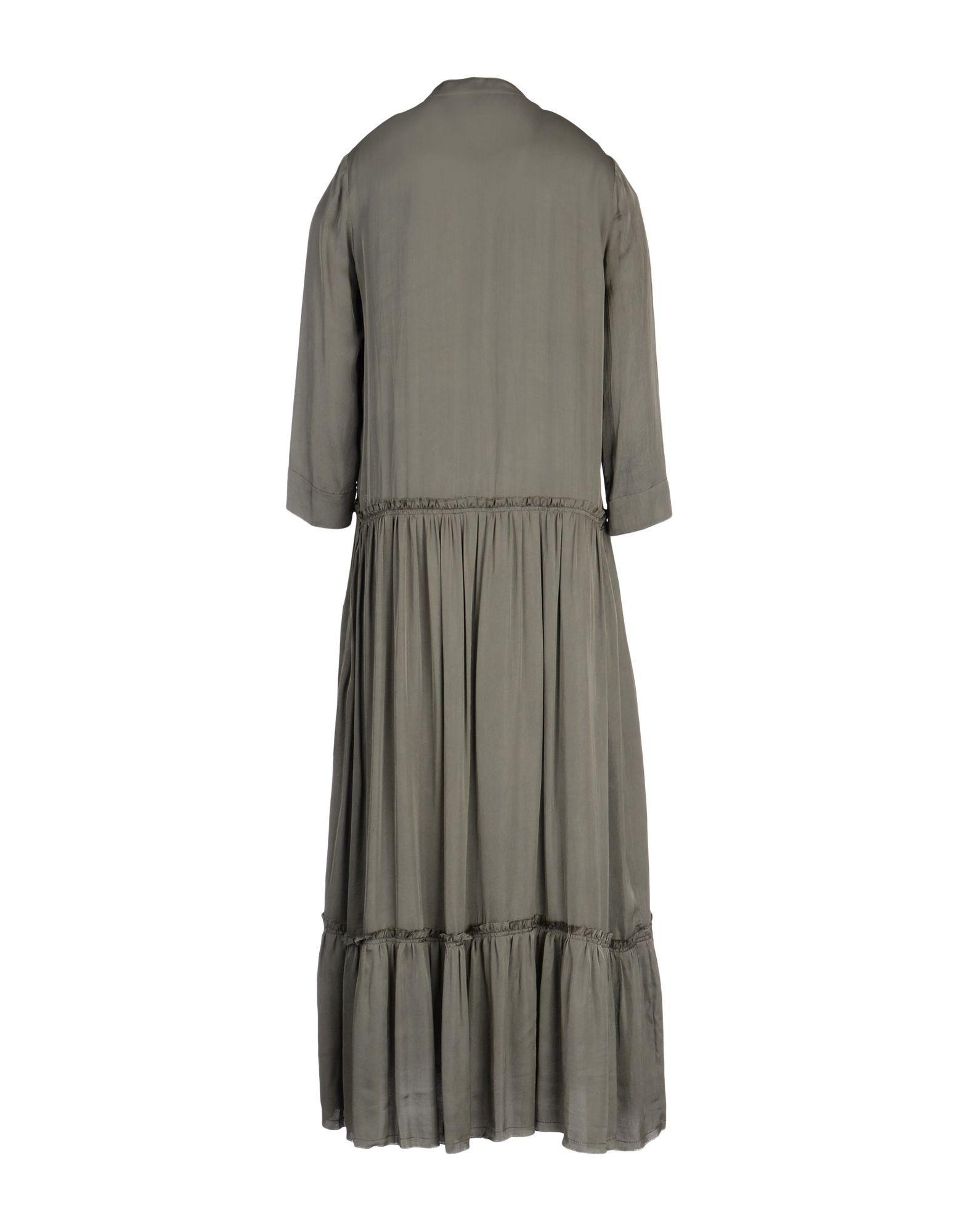 DRESSES Raquel Allegra Dark green Woman Viscose
