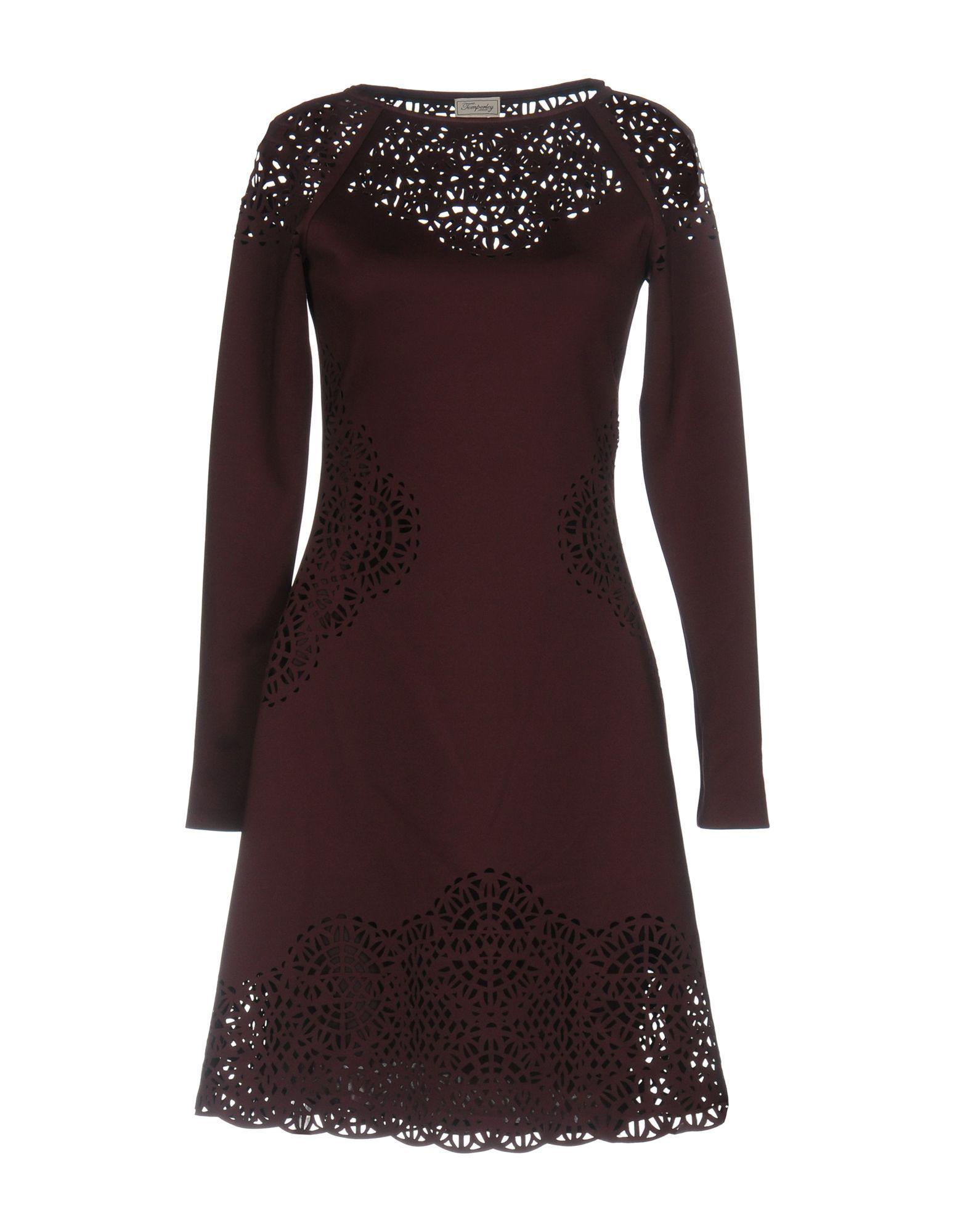 Temperley London Deep Purple Jersey Long Sleeve Dress