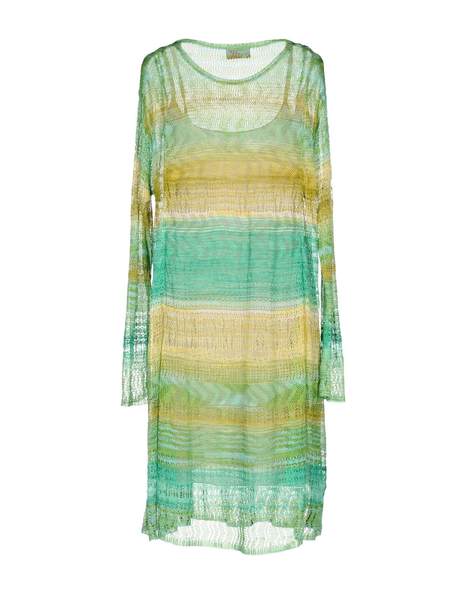 Missoni Light Green Knit Long Sleeve Dress