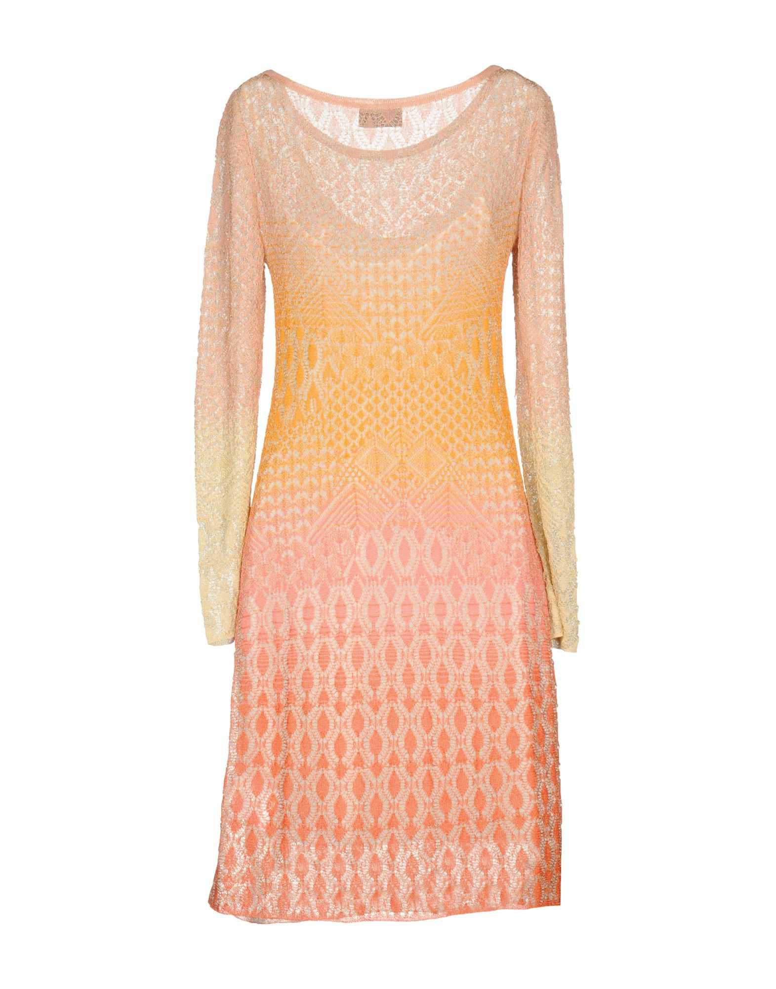 Missoni Pastel Pink Knit Long Sleeve Dress