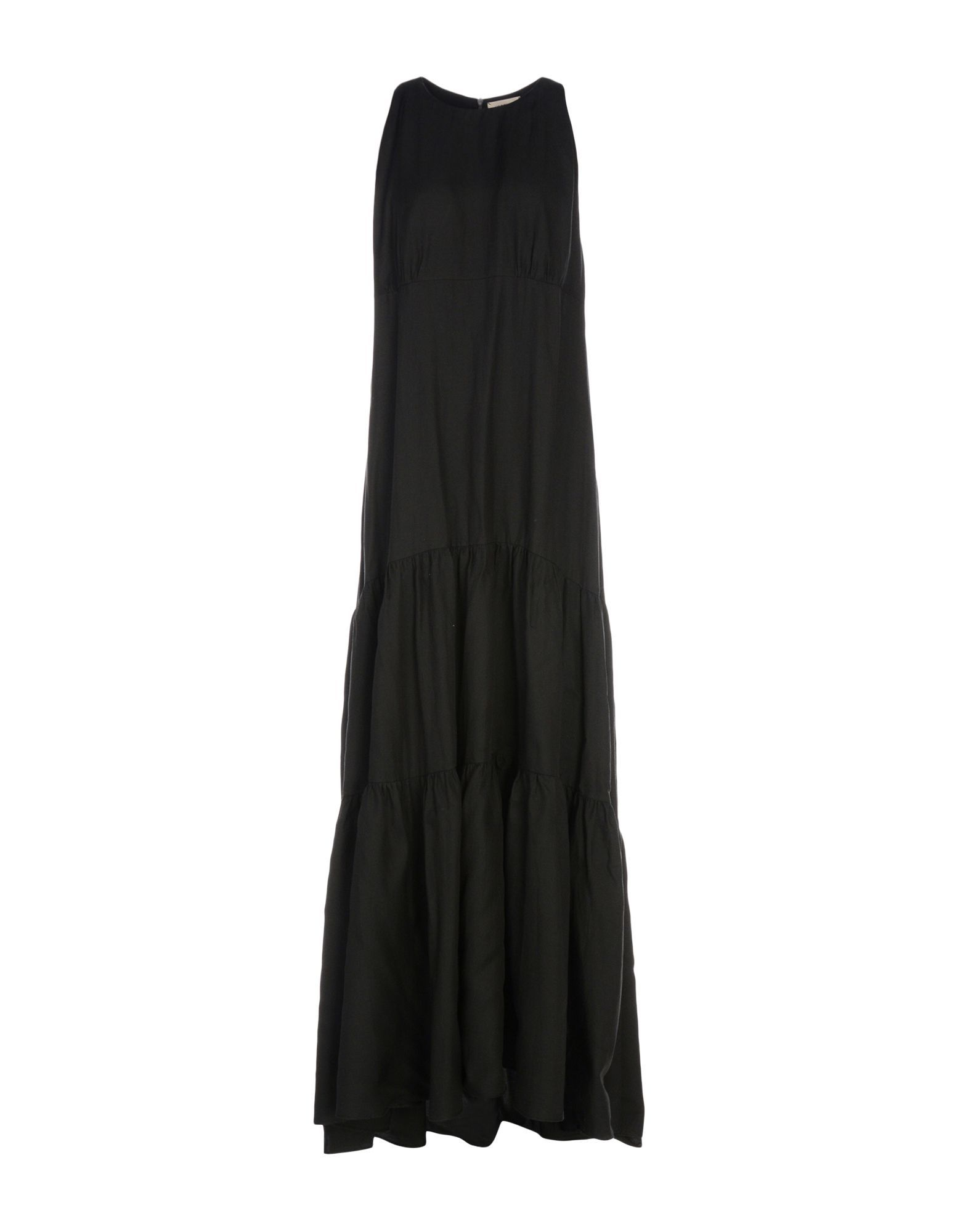 L'Agence Black Sleeveless Full Length Dress