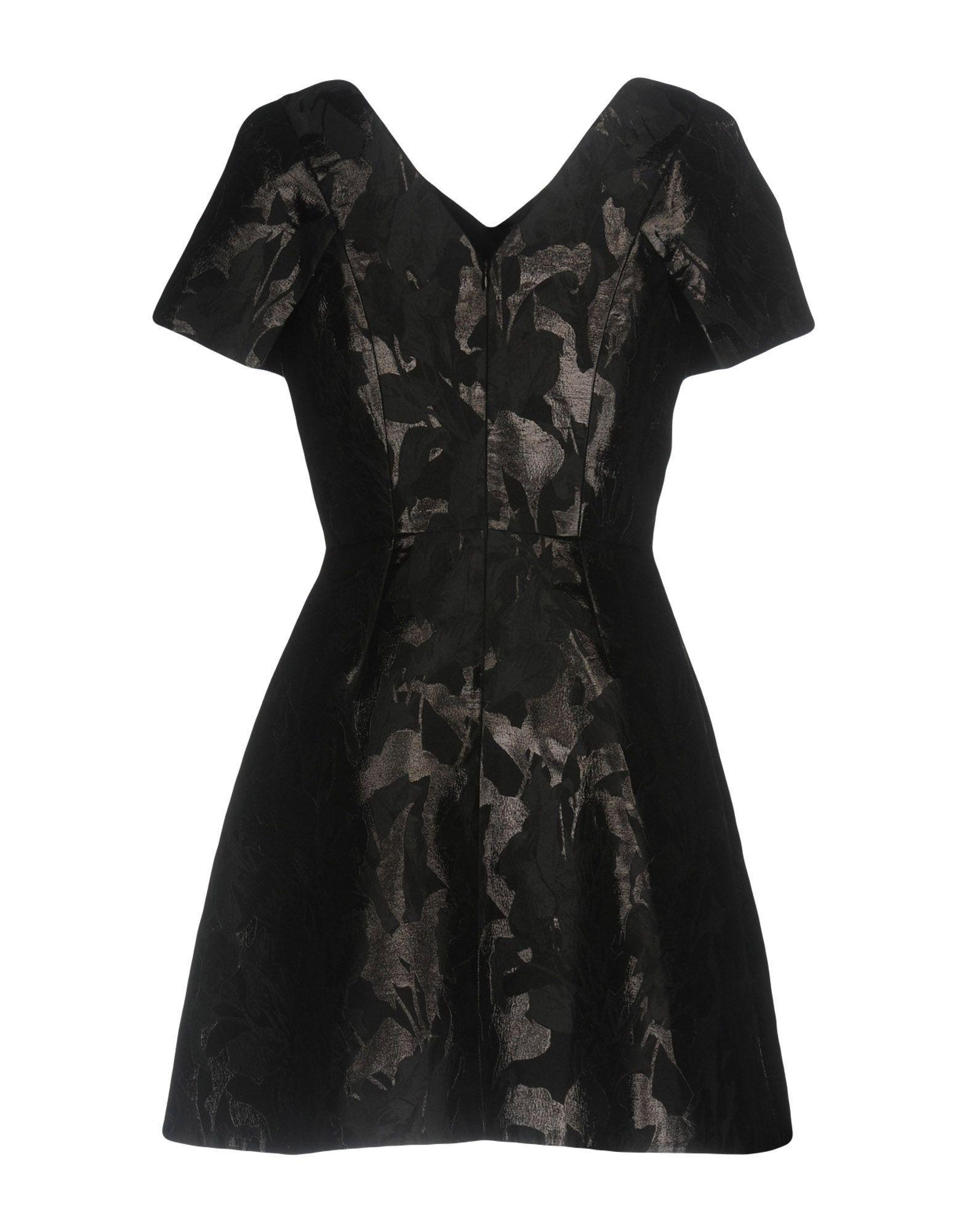 Peter Pilotto Black Cotton Jacquard Dress