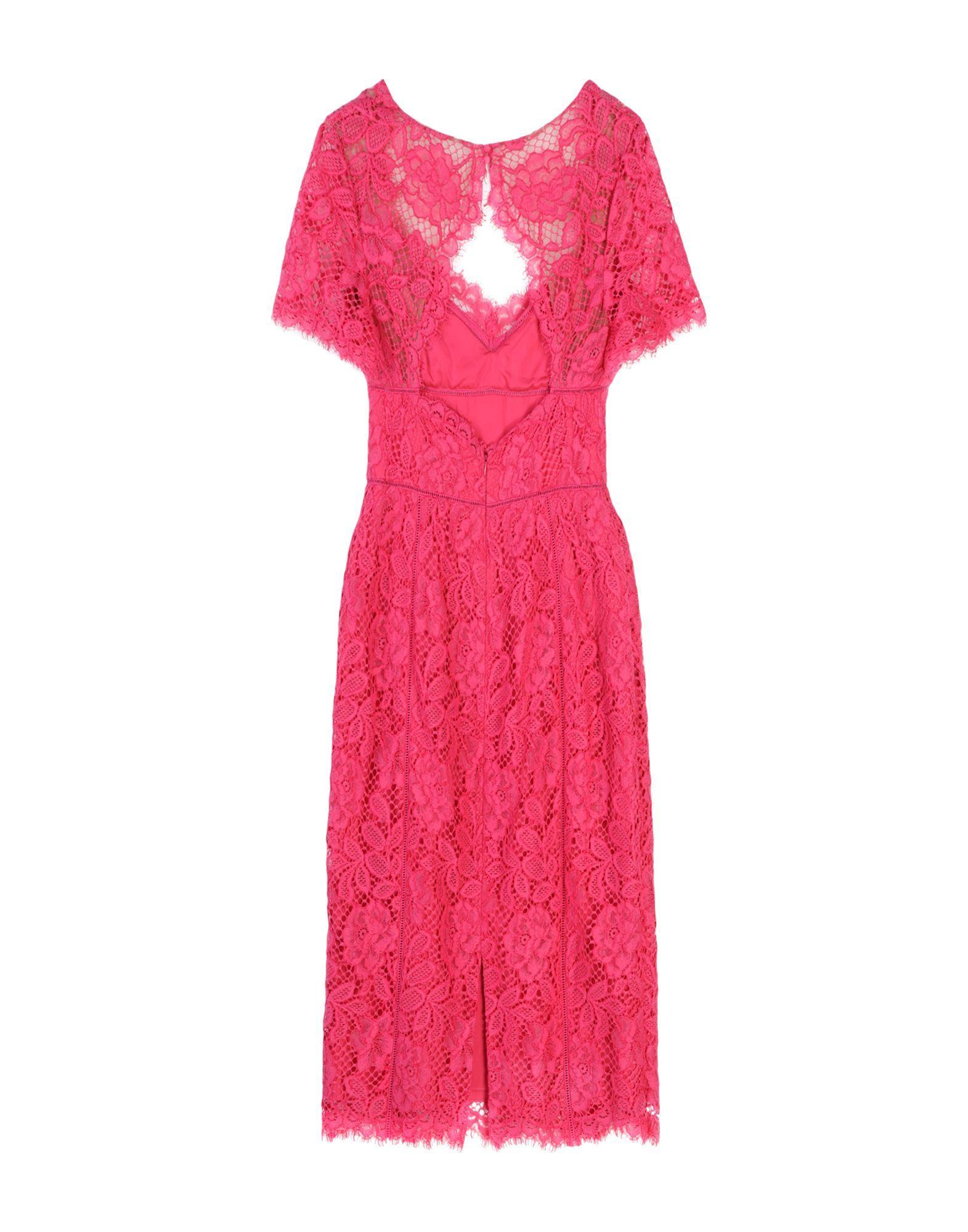 DRESSES Marchesa Notte Fuchsia Woman Cotton