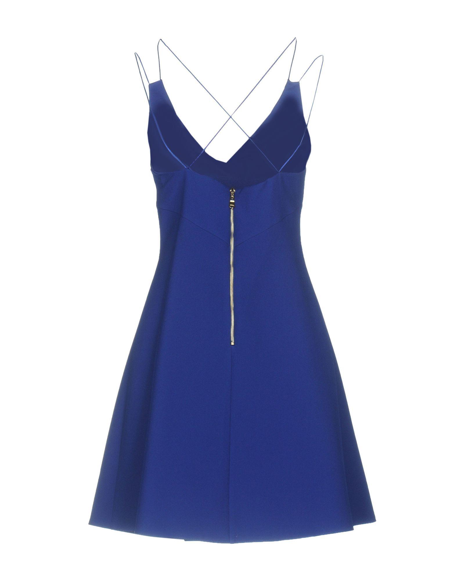 Frankie Morello Blue Short Dress