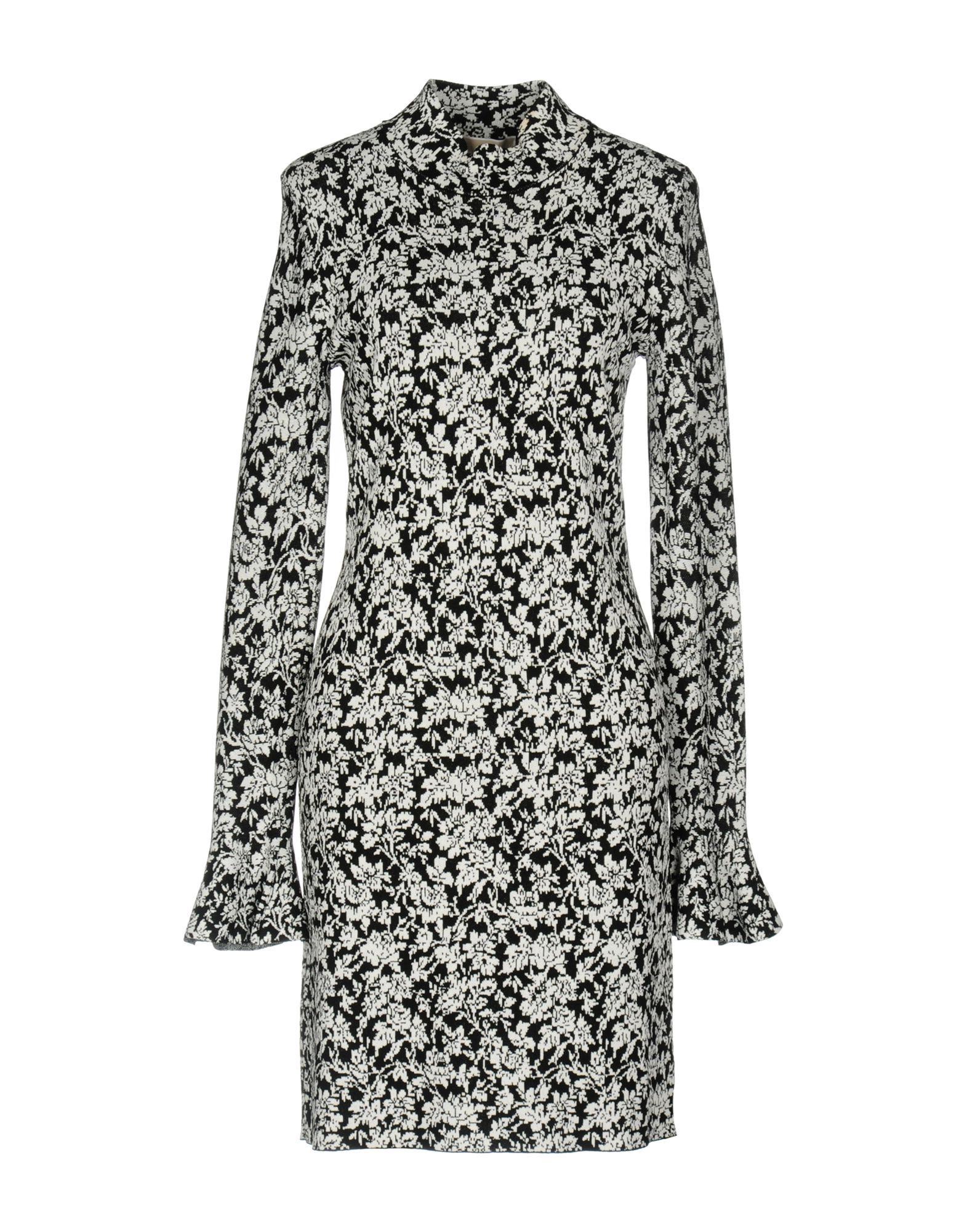 Michael Michael Kors Floral Design Knit Short Dress