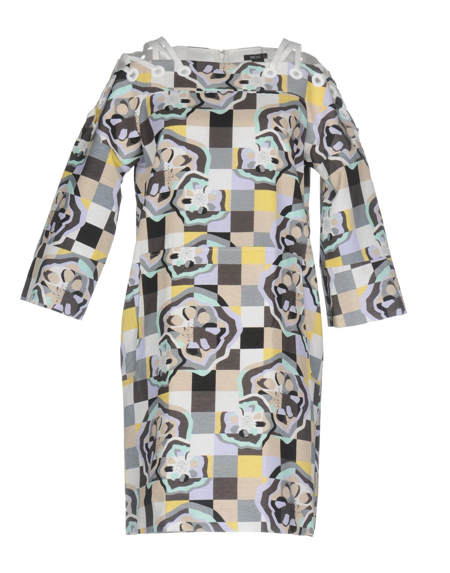 Raoul Grey Pattern Cotton Dress