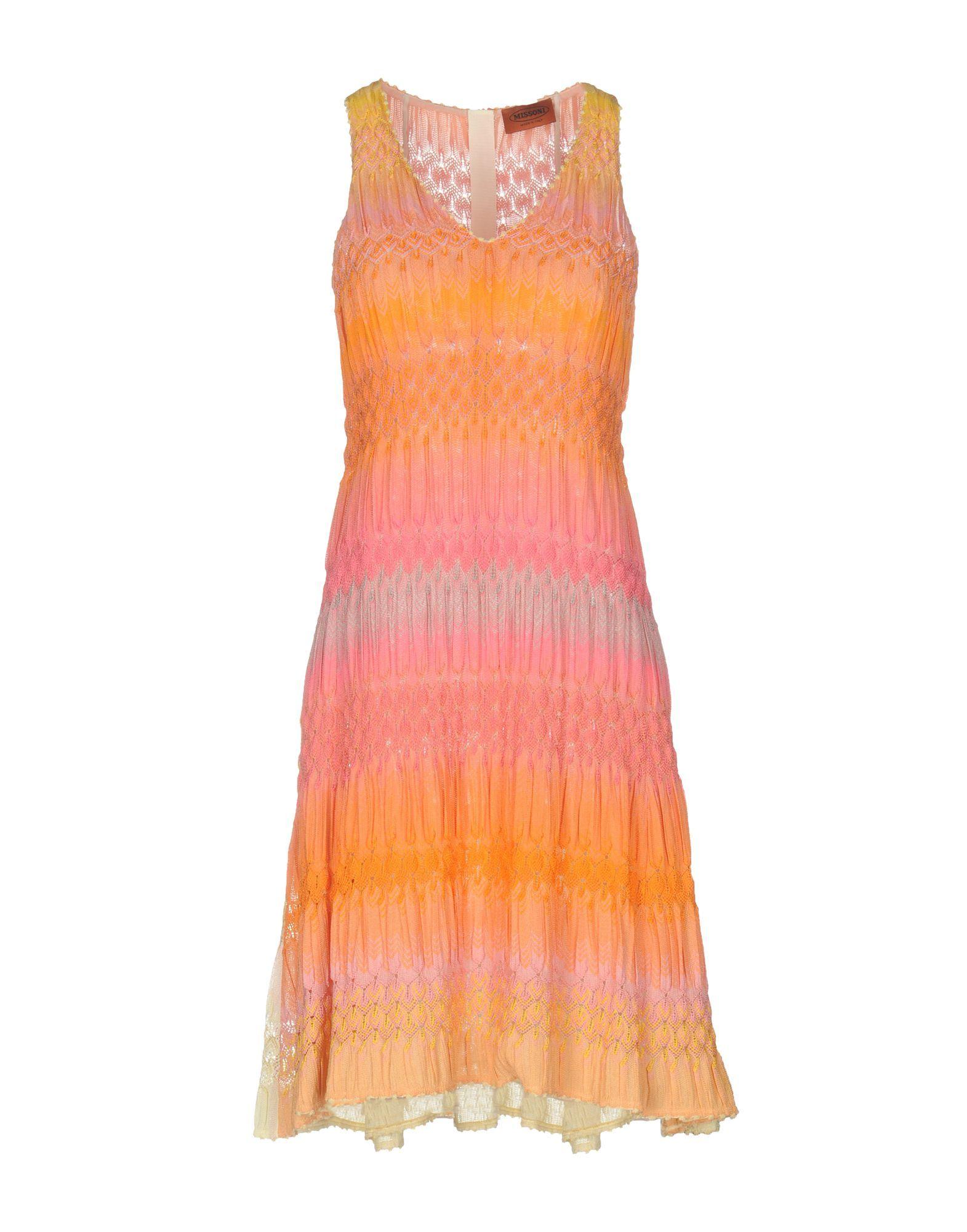 Missoni Orange Knit Sleeveless Dress