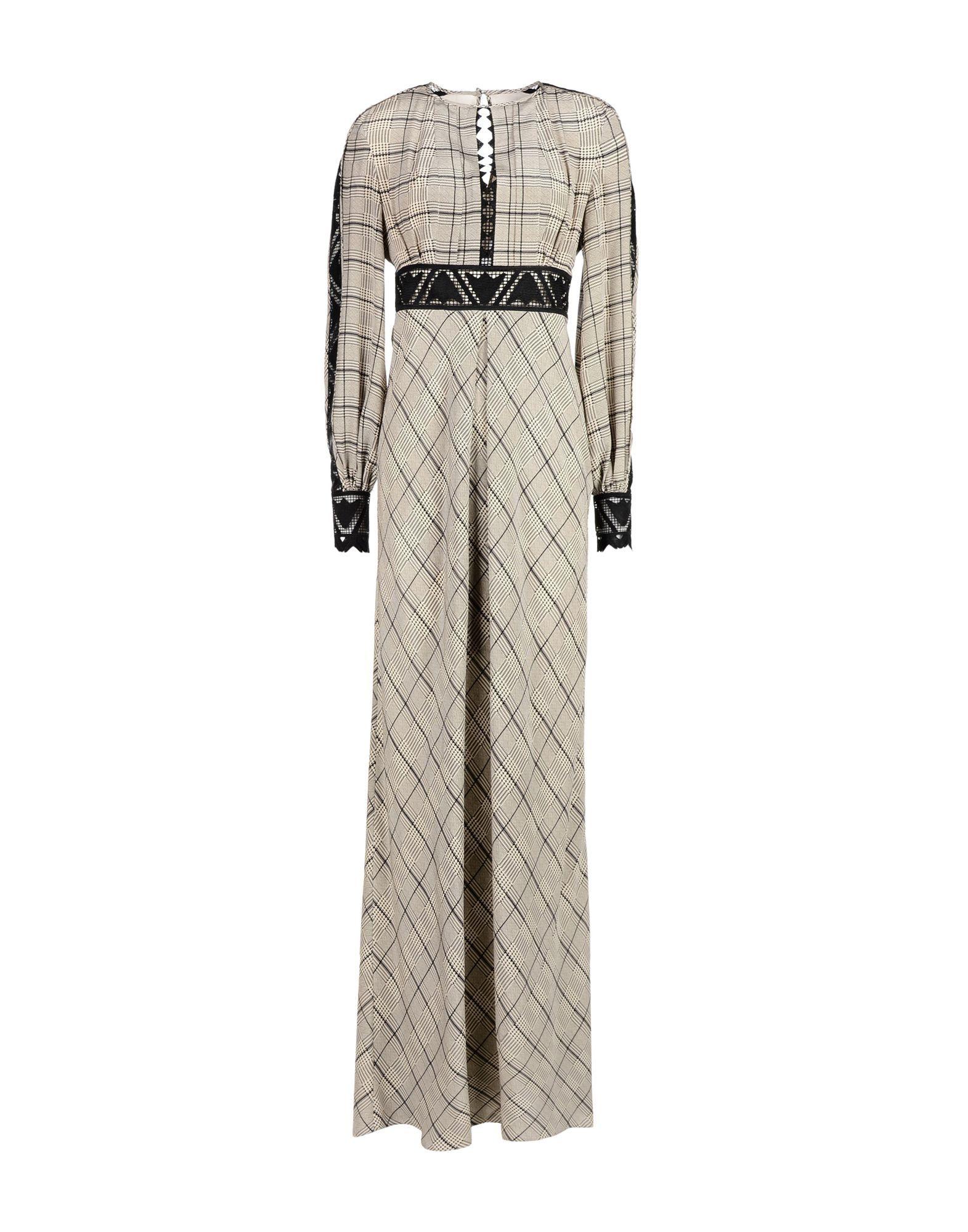 Temperley London Black Silk And Lace Full Length Dress