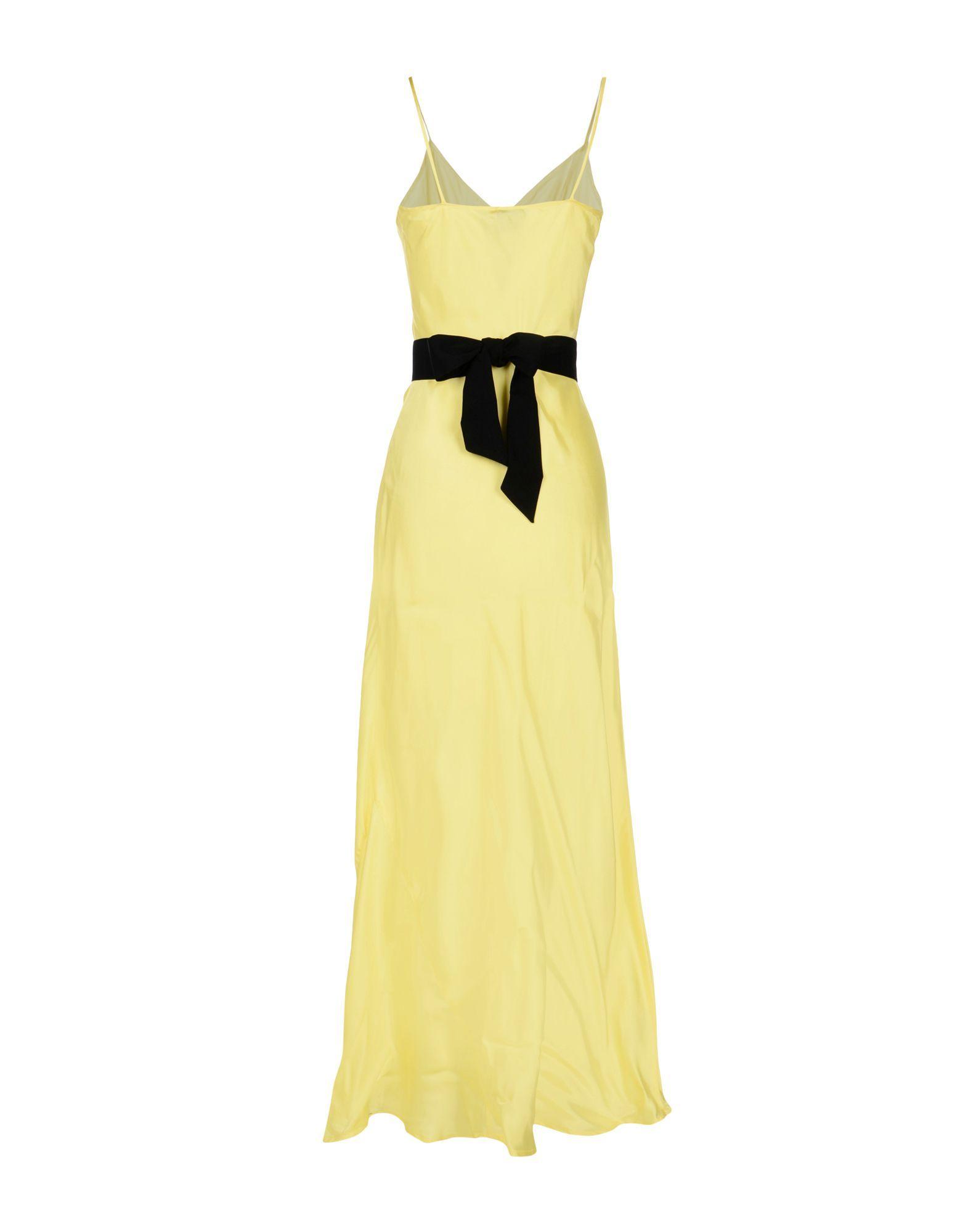 Pinko Yellow Full Length Dress
