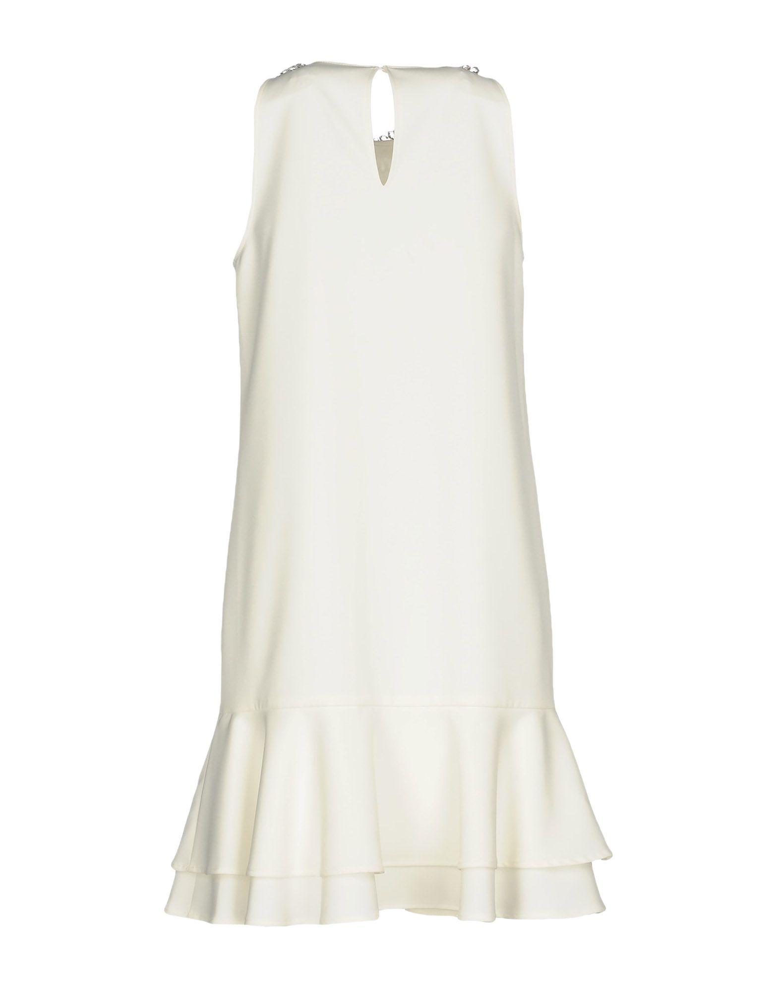 Blugirl Blumarine Ivory Crepe Beaded Dress