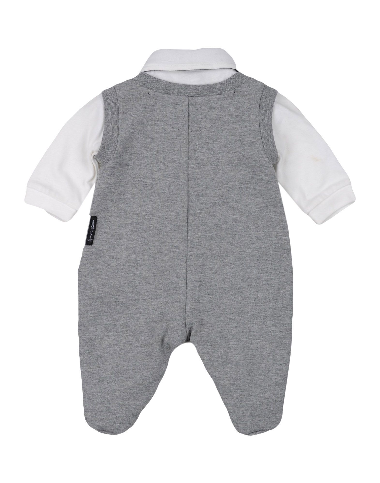 BODYSUITS & SETS Armani Junior Light grey Boy Cotton