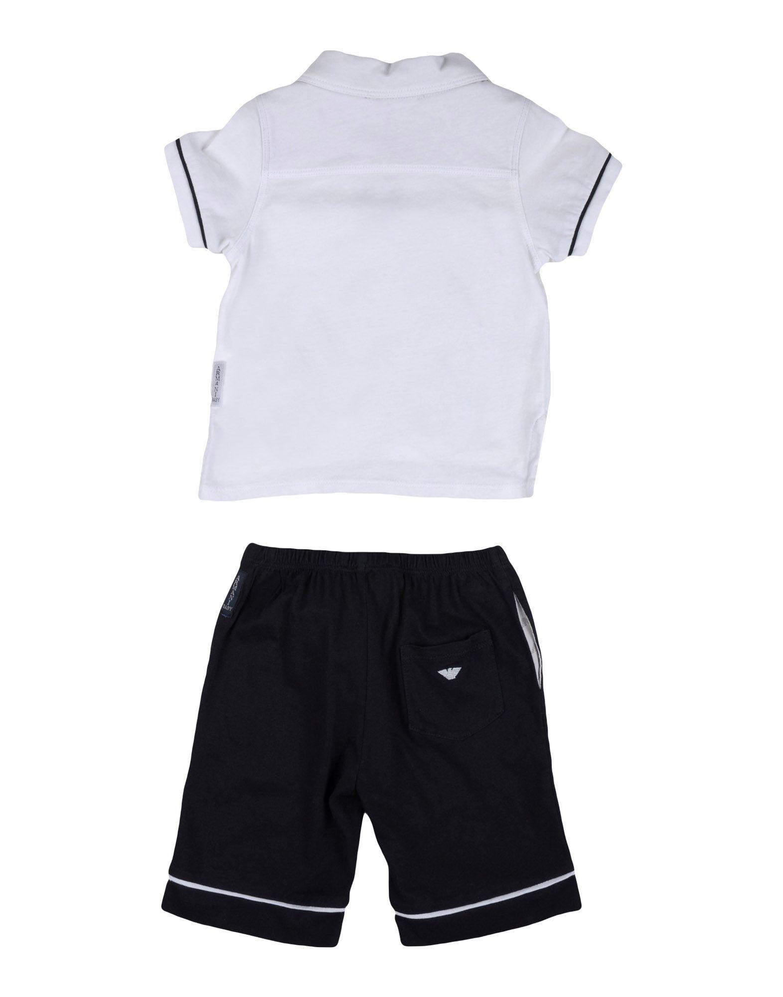 BODYSUITS & SETS Armani Junior White Boy Cotton