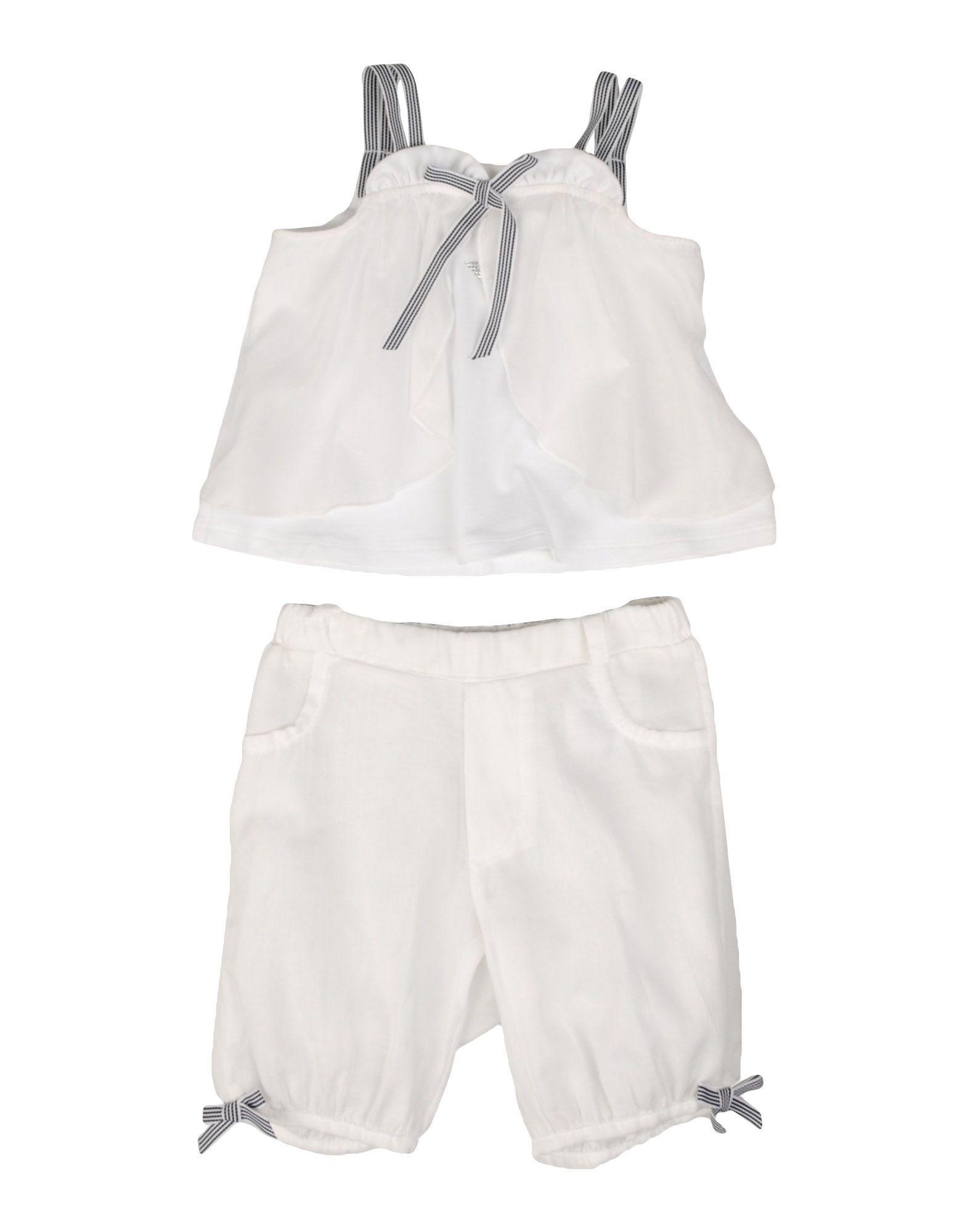 BODYSUITS & SETS Armani Junior White Girl Cotton