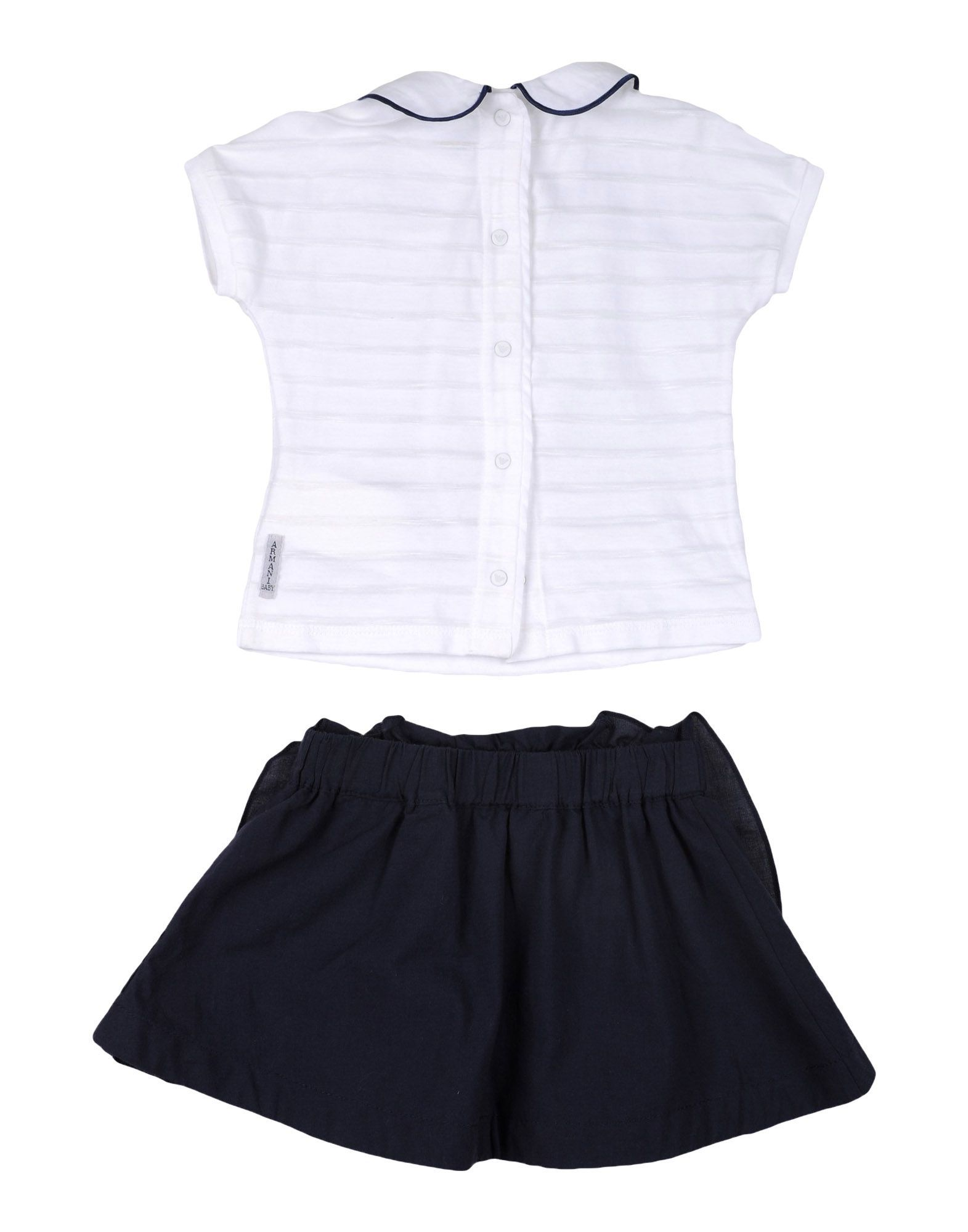 BODYSUITS & SETS Armani Junior White Girl Cotton