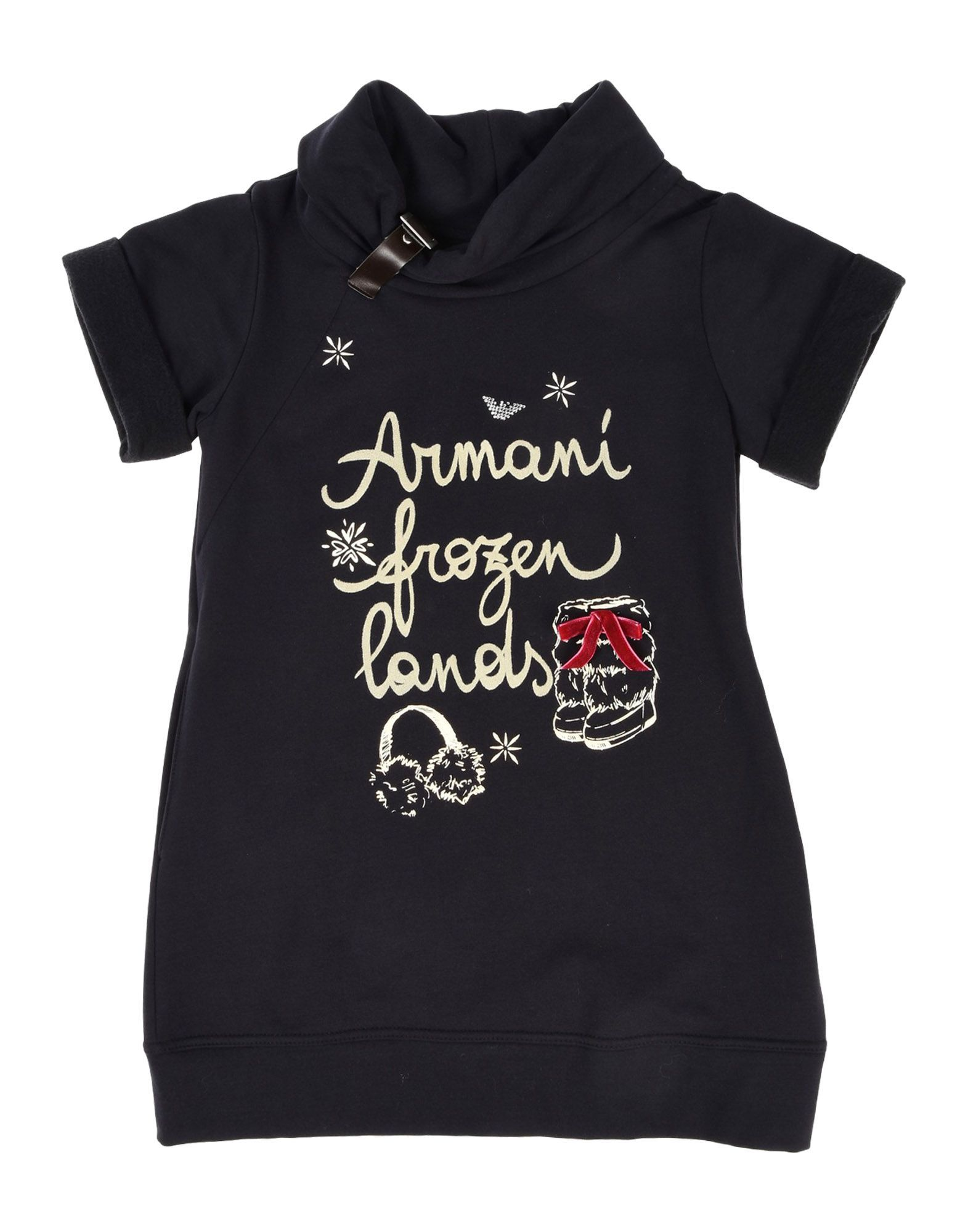 DRESSES Armani Junior Dark blue Girl Cotton