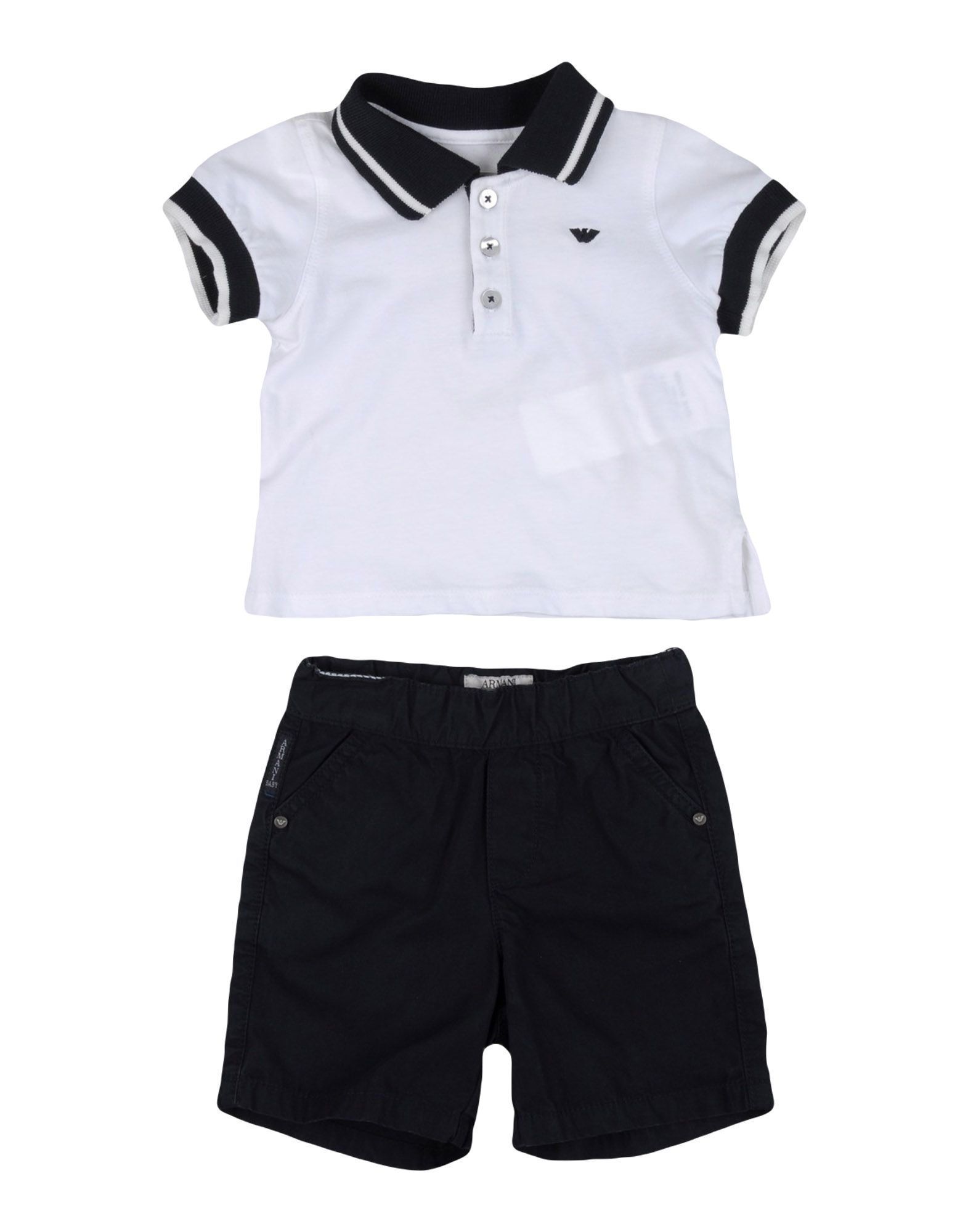 BODYSUITS & SETS Armani Junior White Boy Cotton