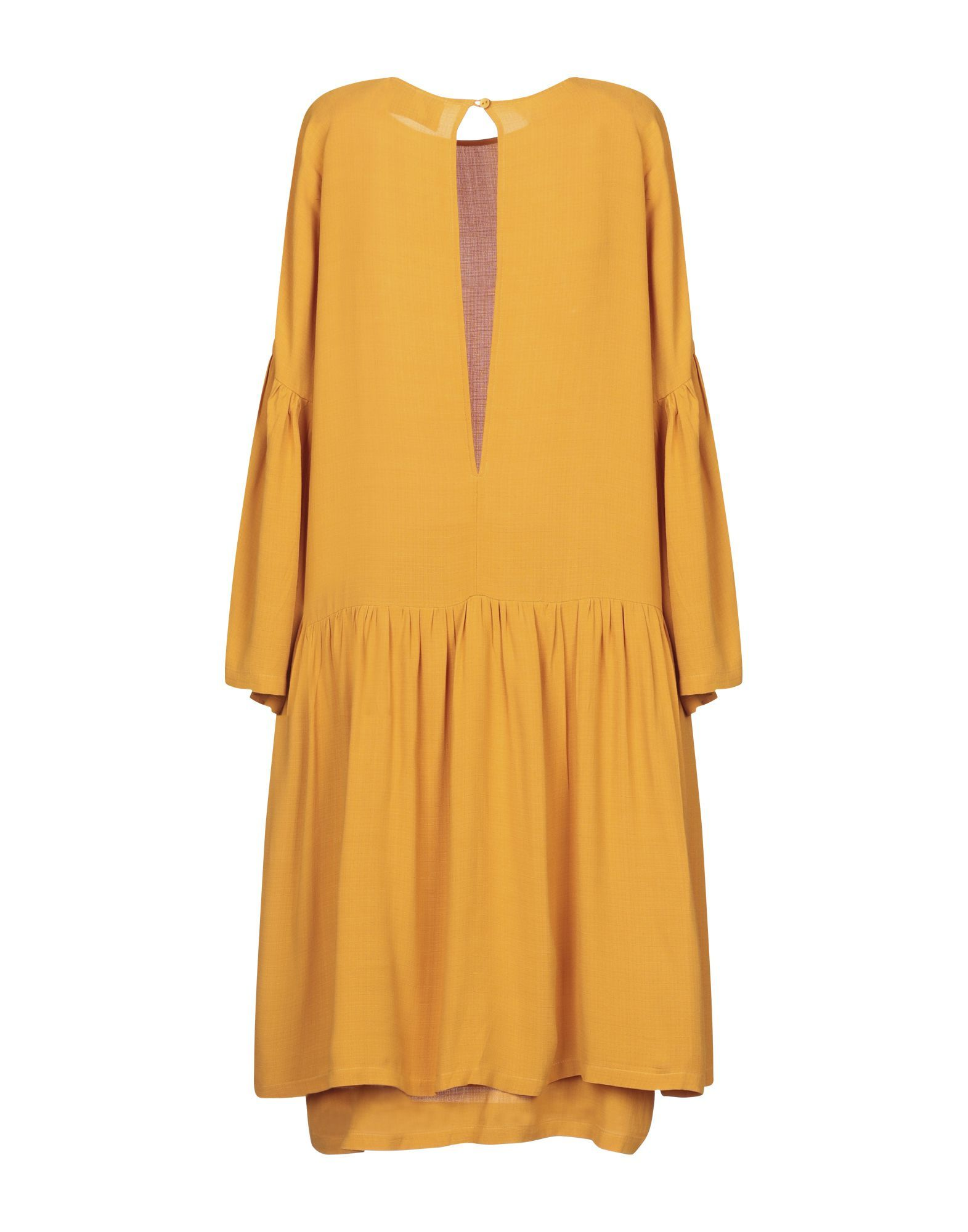 Just Female Ochre Long Sleeve Dress