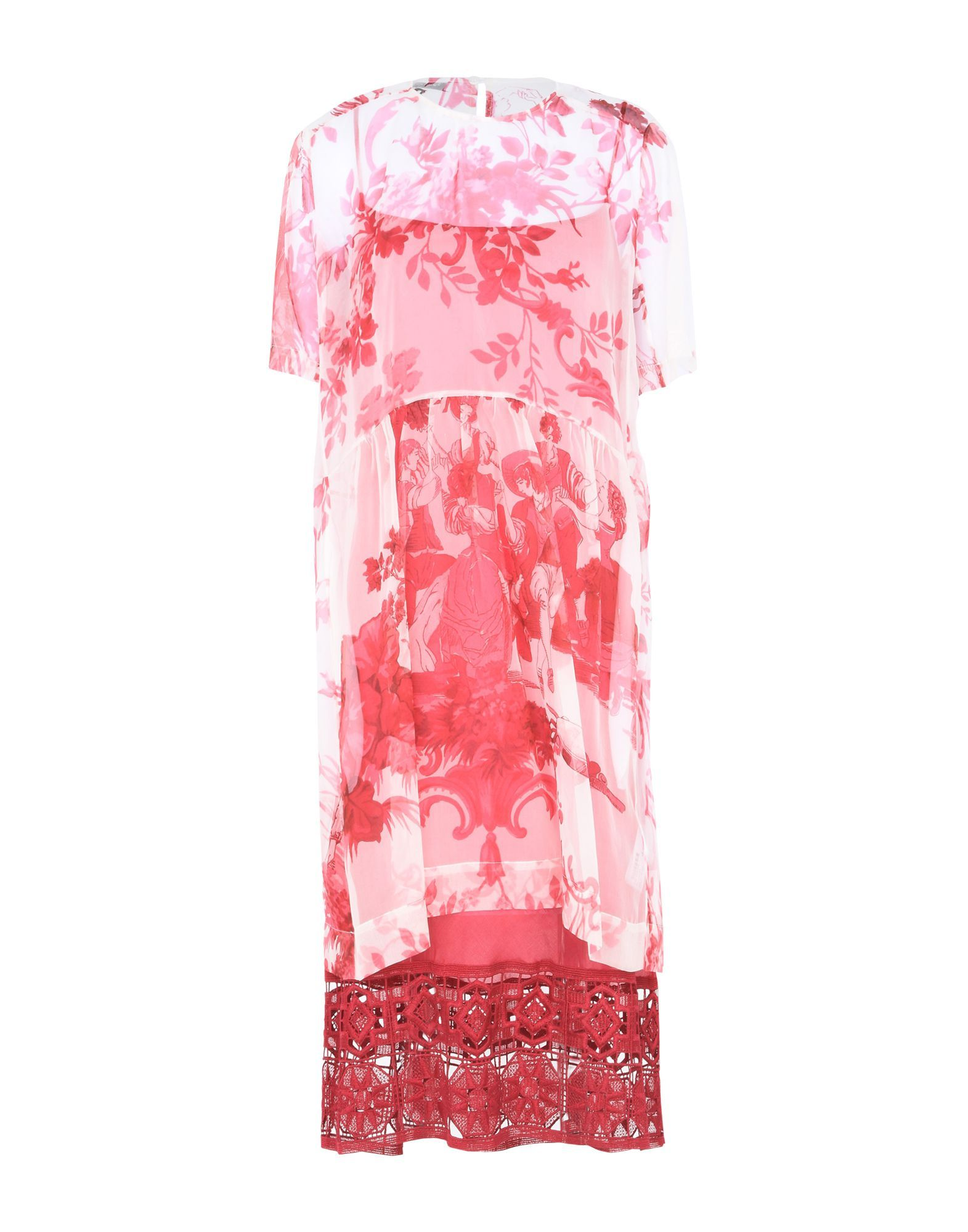 Dondup Fuchsia Floral Design Cotton Dress