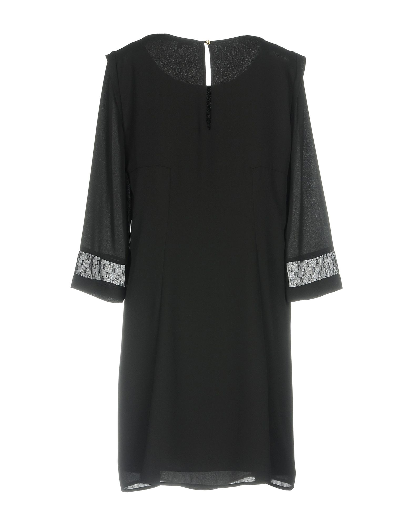 Patrizia Pepe Black Crepe Three Quarter Sleeve Dress