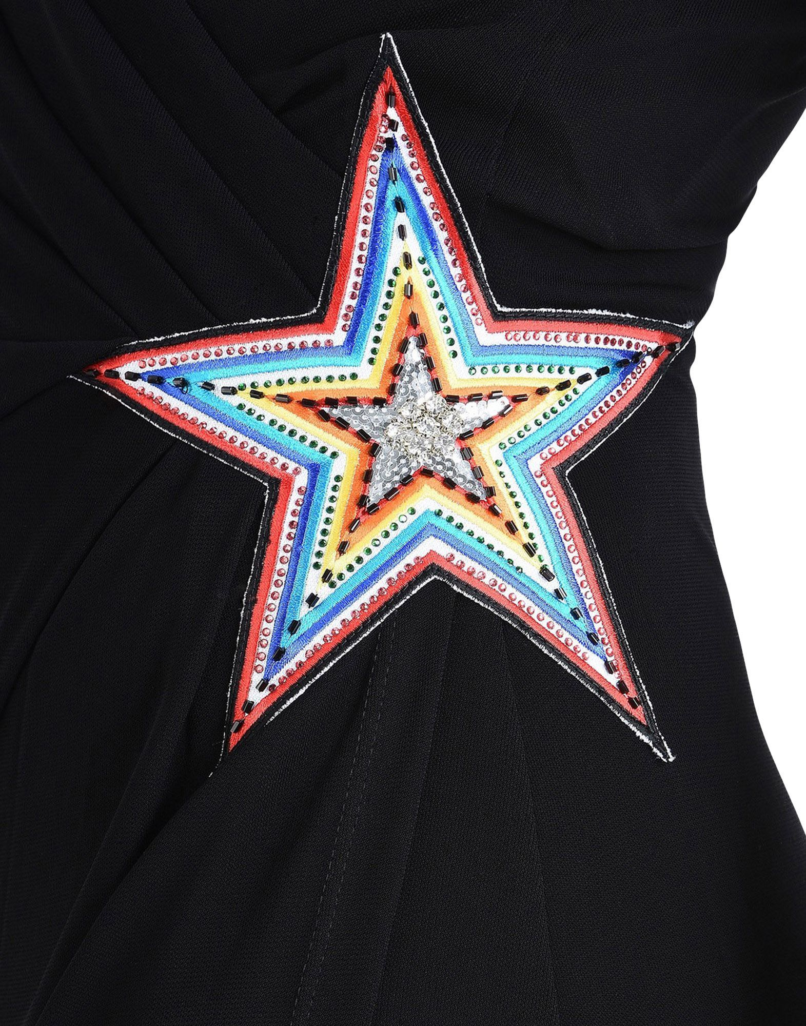 Just Cavalli Black Crepe Embellished Sleeveless Full Length Dress