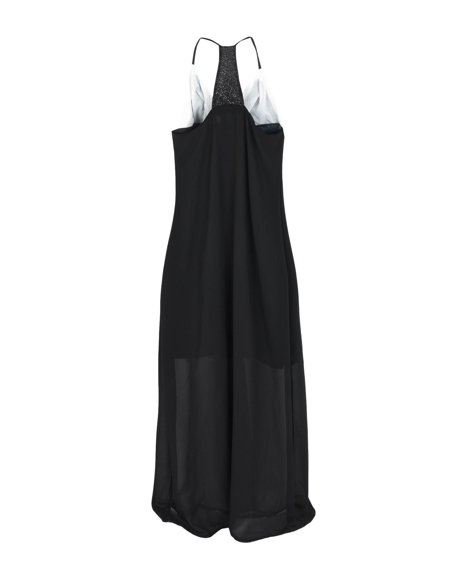 Christies Black Crepe Plunge Neckline Dress