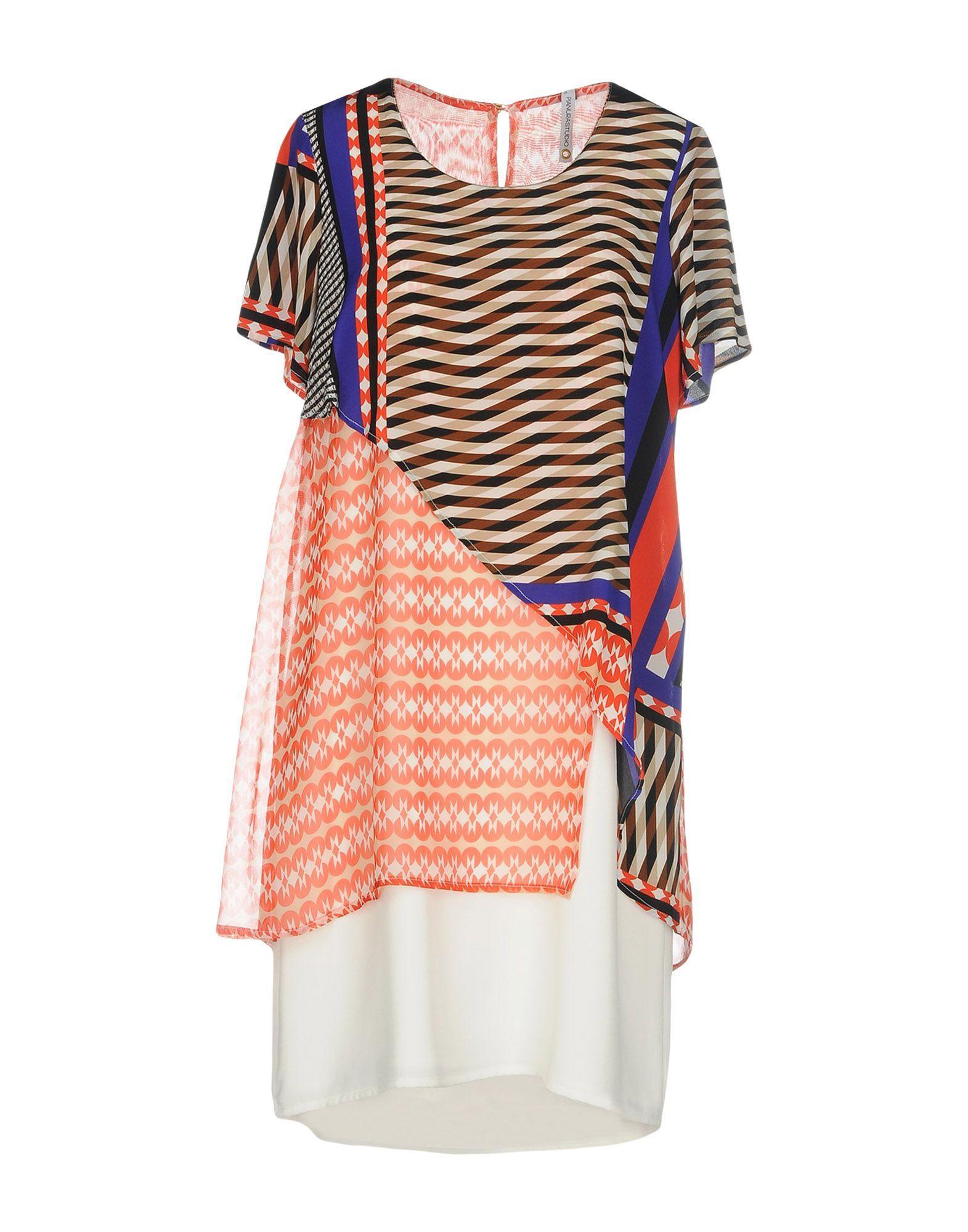 Pianurastudio Red Print Silk Dress
