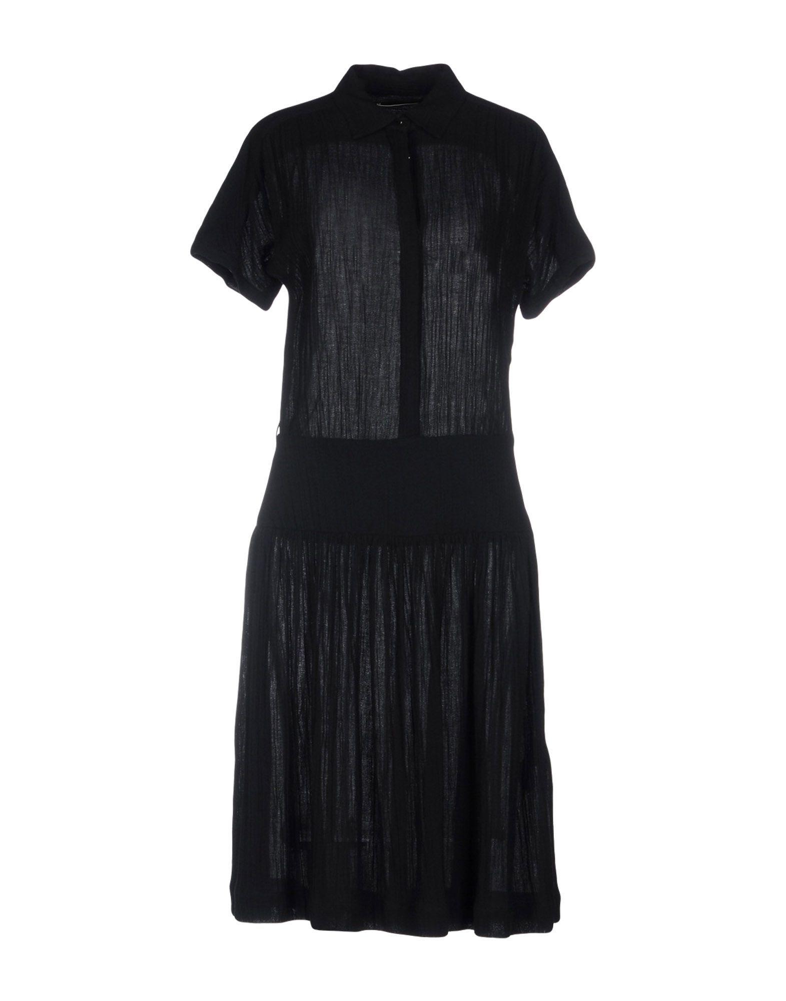 Sessun Black Cotton Short Sleeve Shirt Dress
