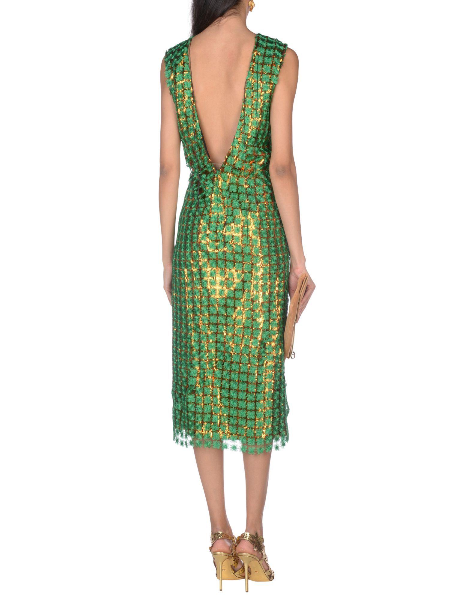 DRESSES Marco De Vincenzo Green Woman Polyester