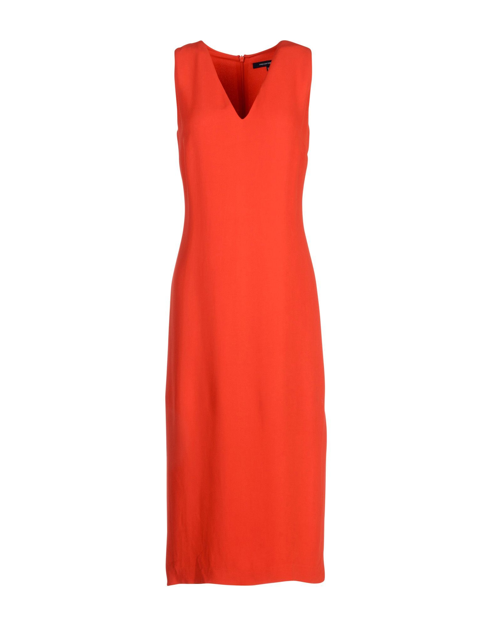 French Connection Red Crepe Sleeveless Dress
