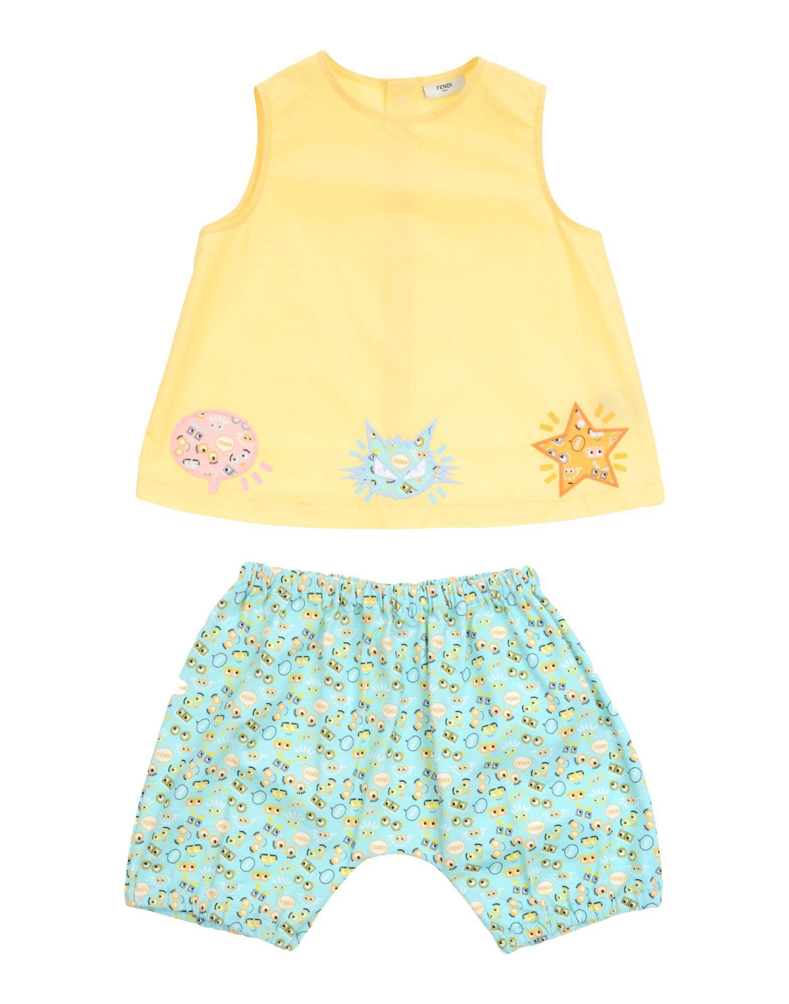 Fendi Yellow Girl Cotton Set
