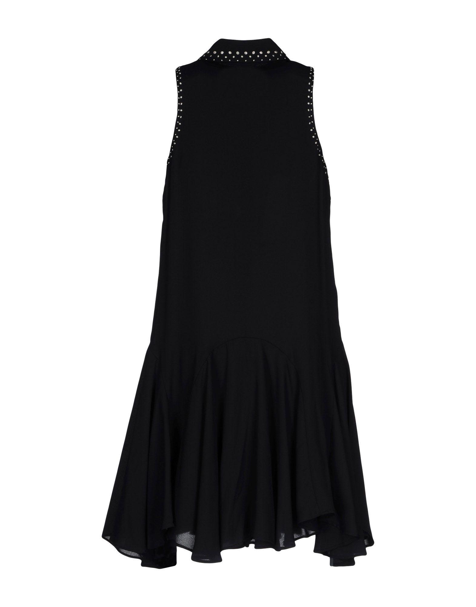 Pepe Jeans Black Crepe Shirt Dress