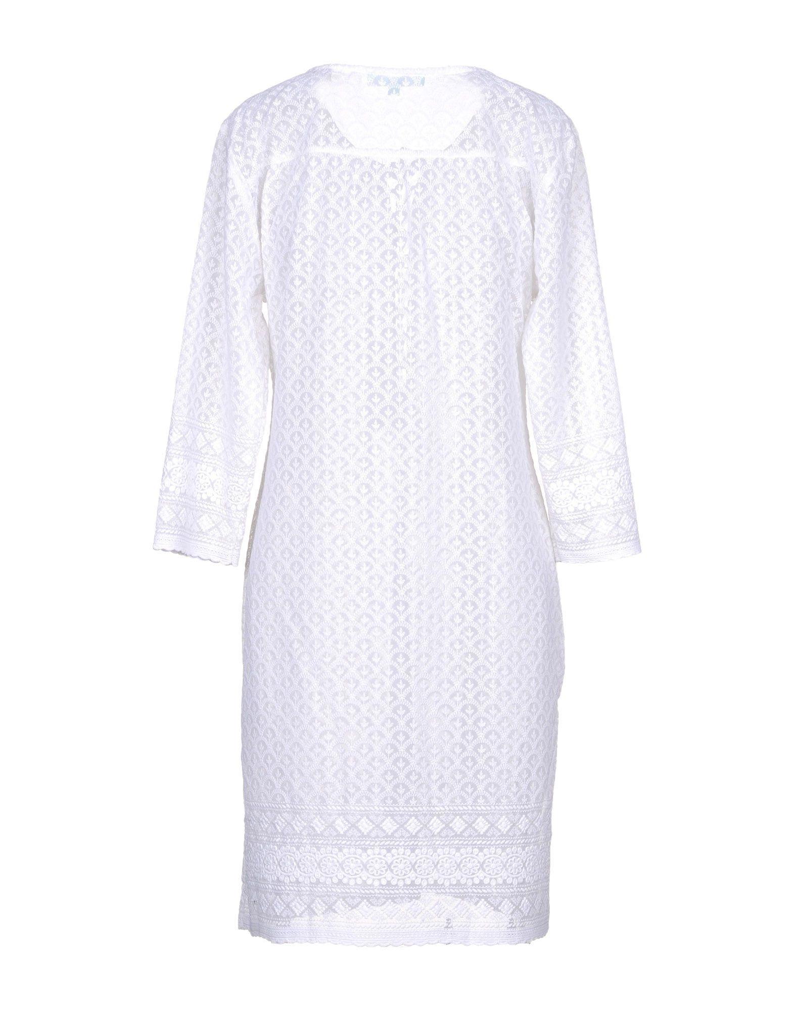 Melissa Odabash White Embroidered Detail Dress