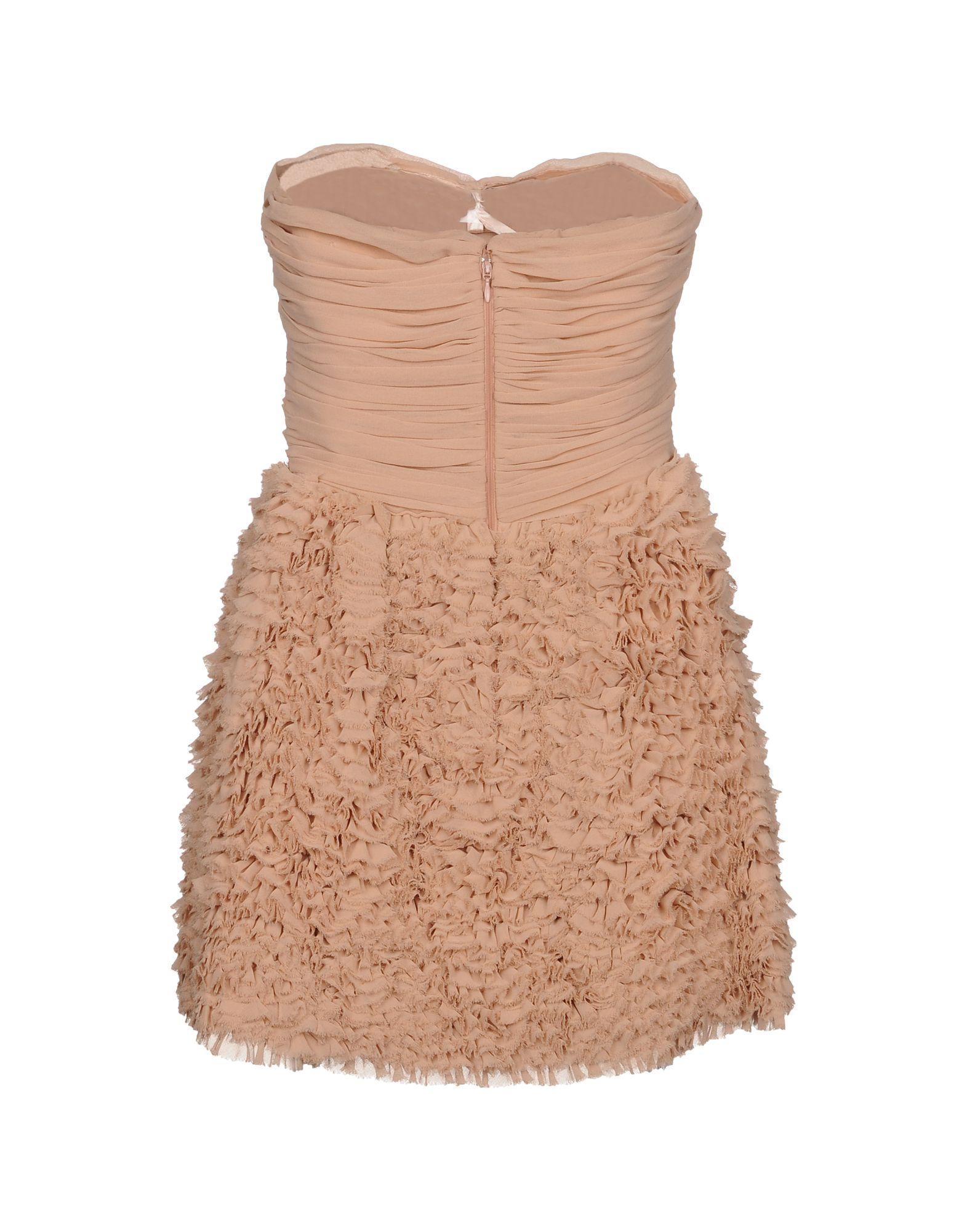 Elisabetta Franchi Gold Pale Pink Ruffled Strapless Dress