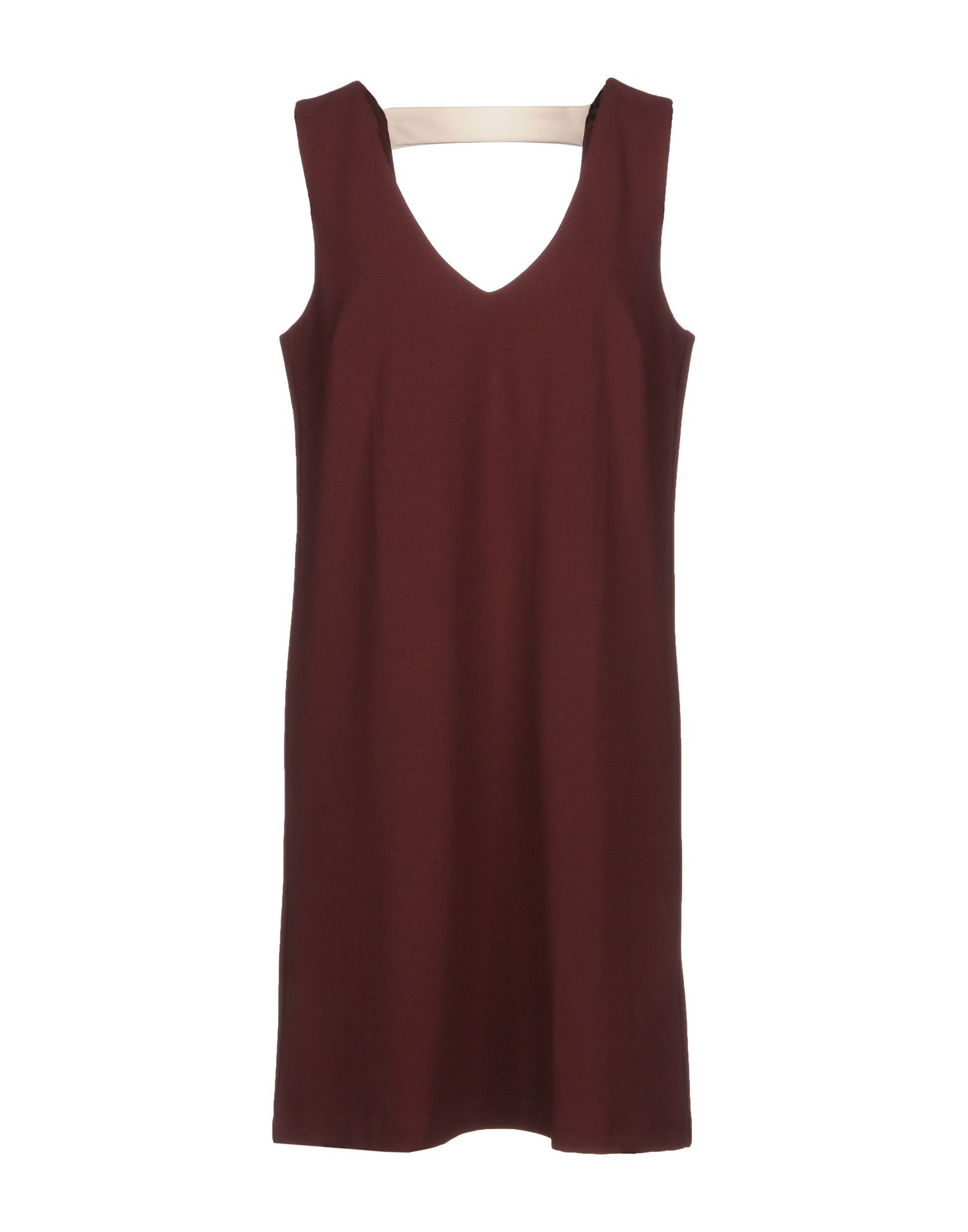 Merci Maroon Crepe Dress