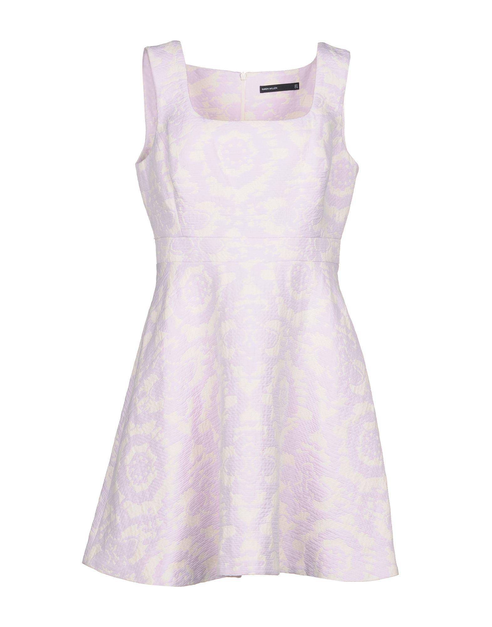 Karen Millen Lilac Jacquard Sleeveless Dress