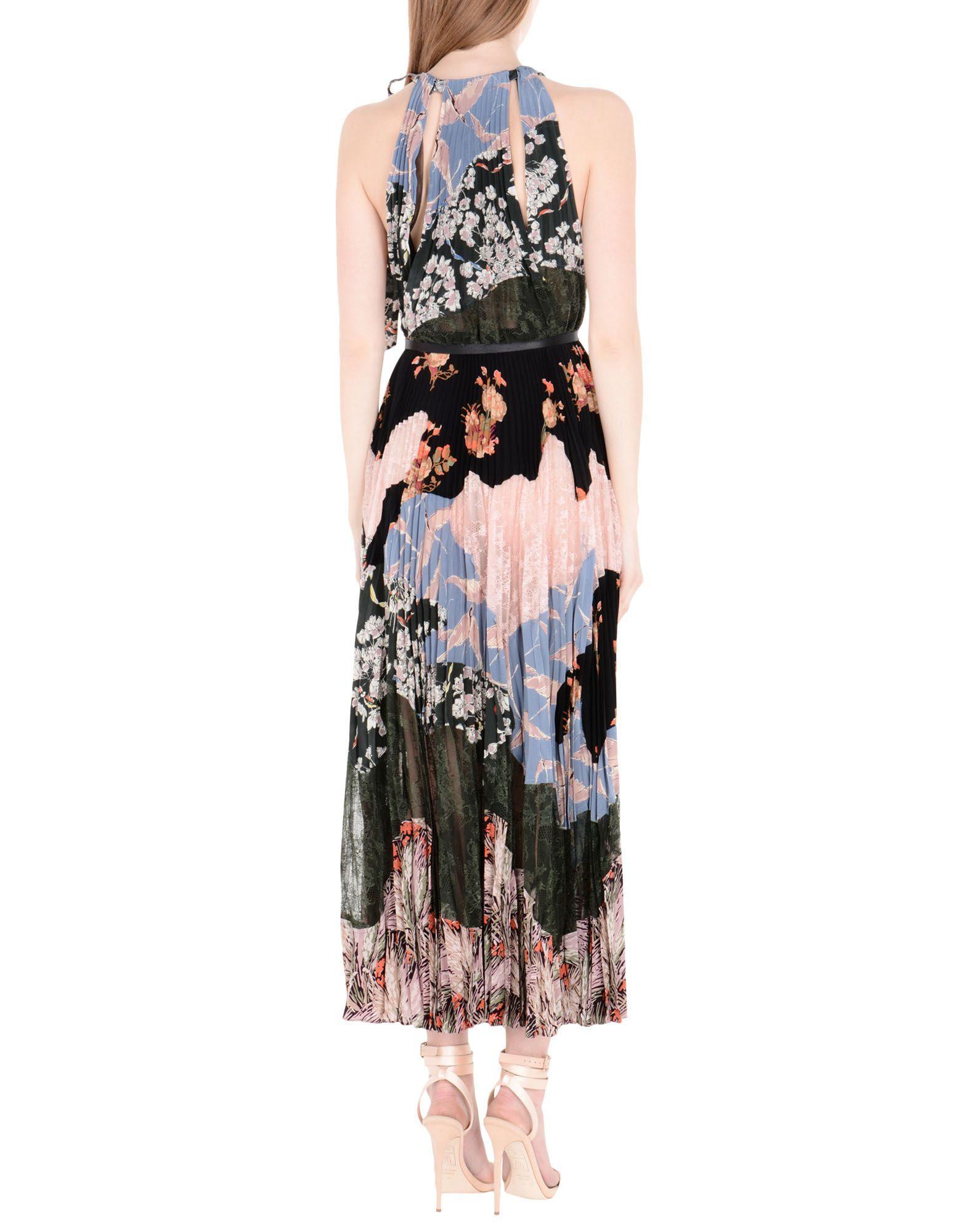 Valentino Dark Green Print Silk Dress