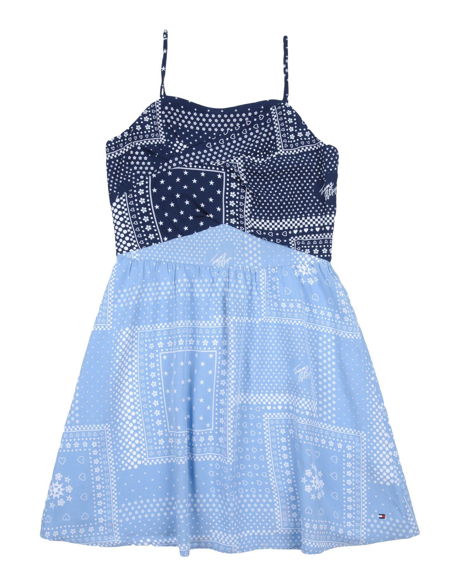 DRESSES Tommy Hilfiger Dark blue Girl Viscose