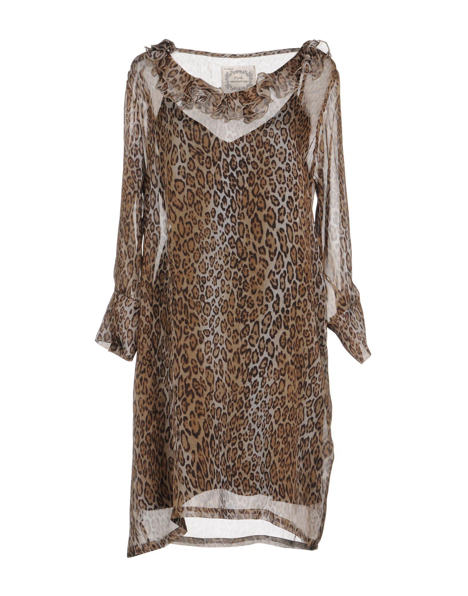 Pink Memories Leopard Print Silk Dress