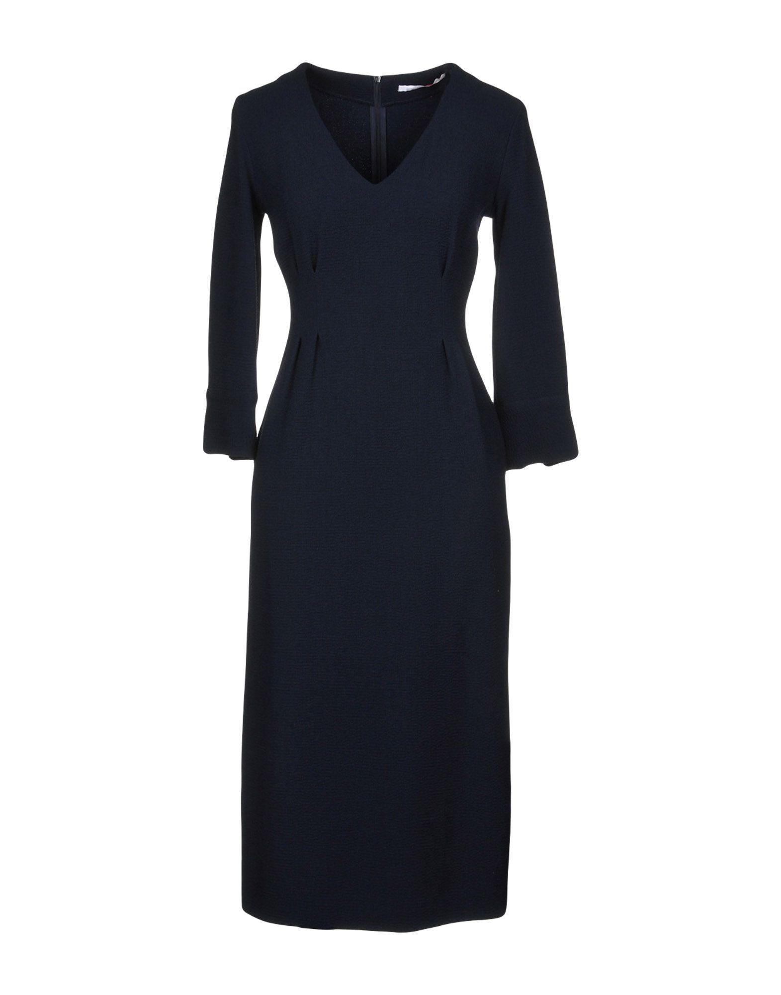 DRESSES Maison Laviniaturra Dark blue Woman Viscose