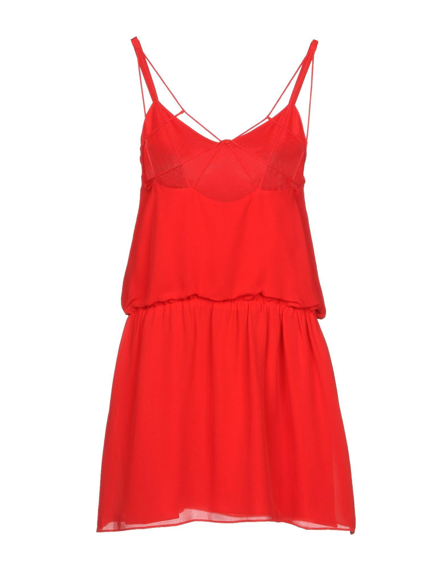 Haute Hippie Red Silk Dress