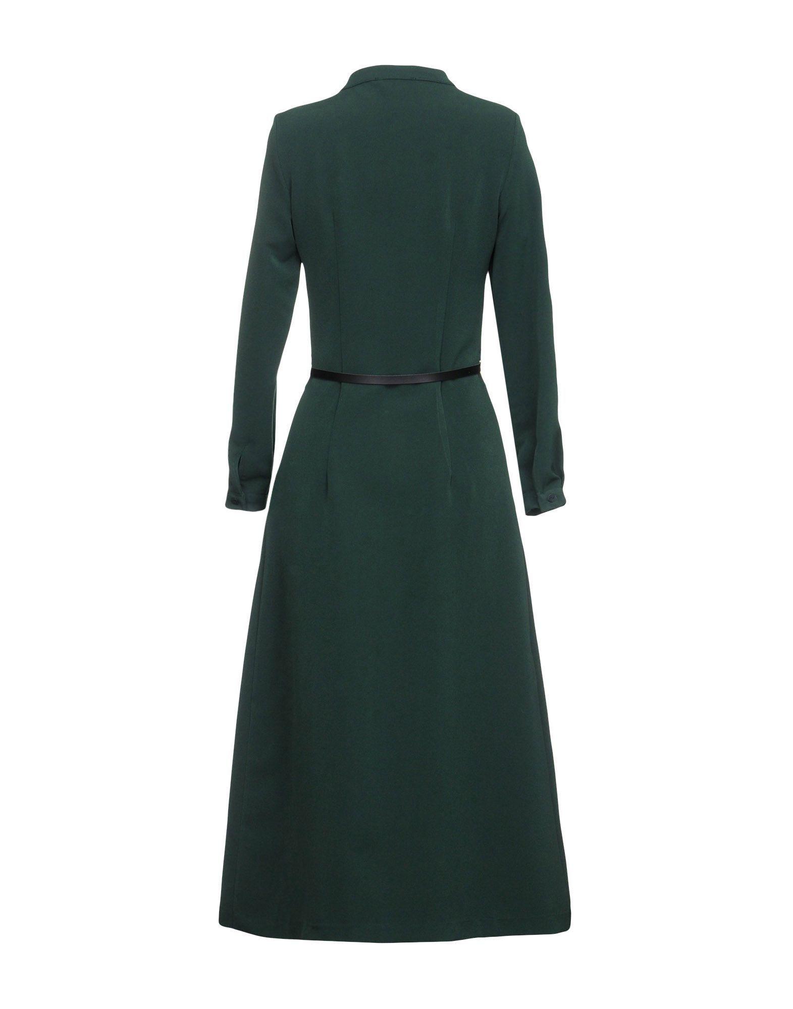 Vicolo Green Crepe Long Sleeve Dress