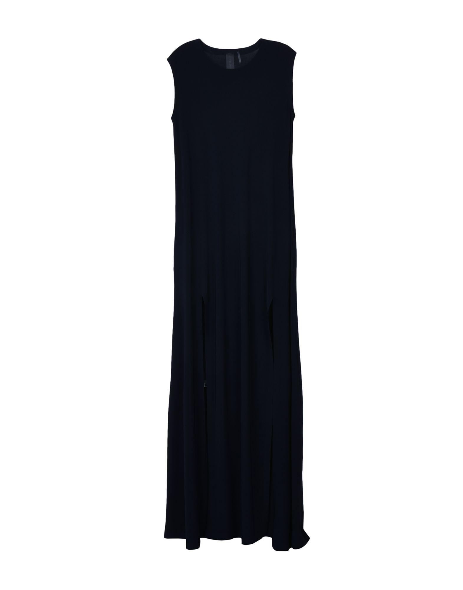 Norma Kamali Dark Blue Belted Jersey Dress