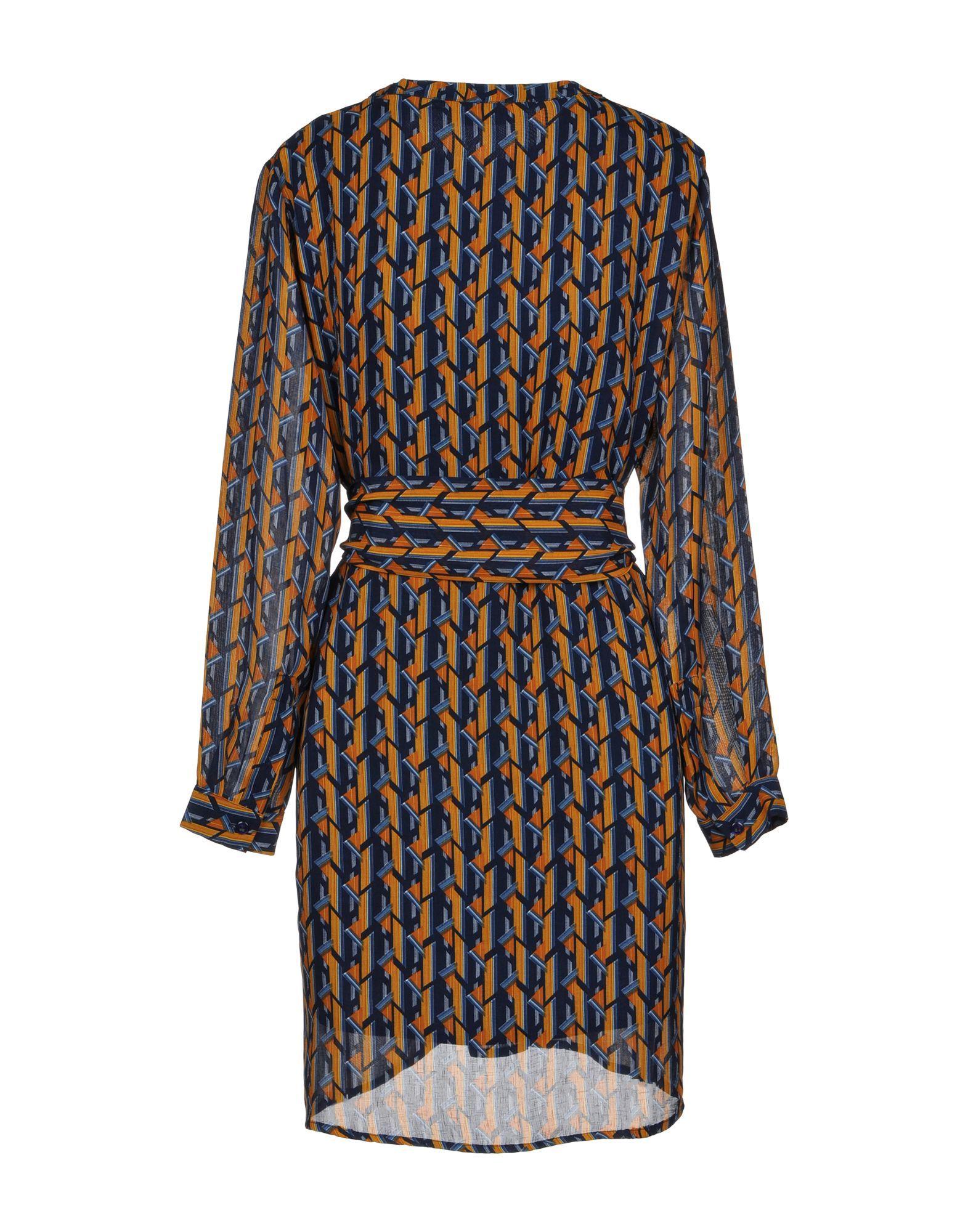Anonyme Designers Dark Blue Print Crepe Dress