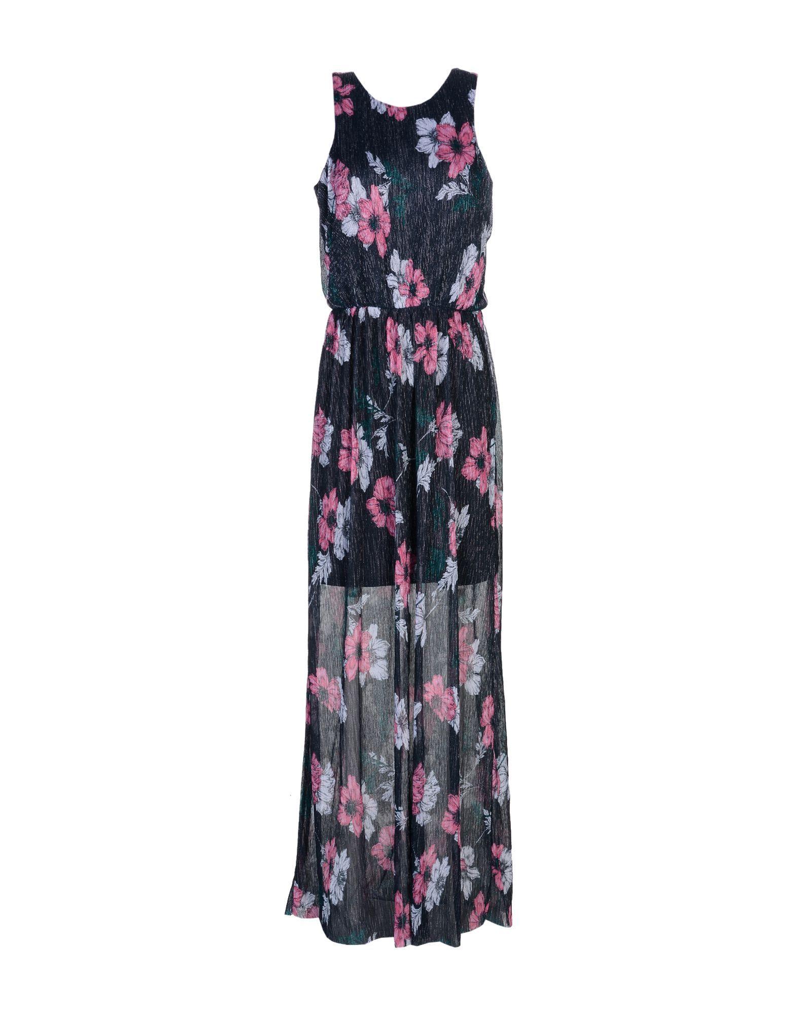 Only Slate Blue Floral Print Full Length Dress