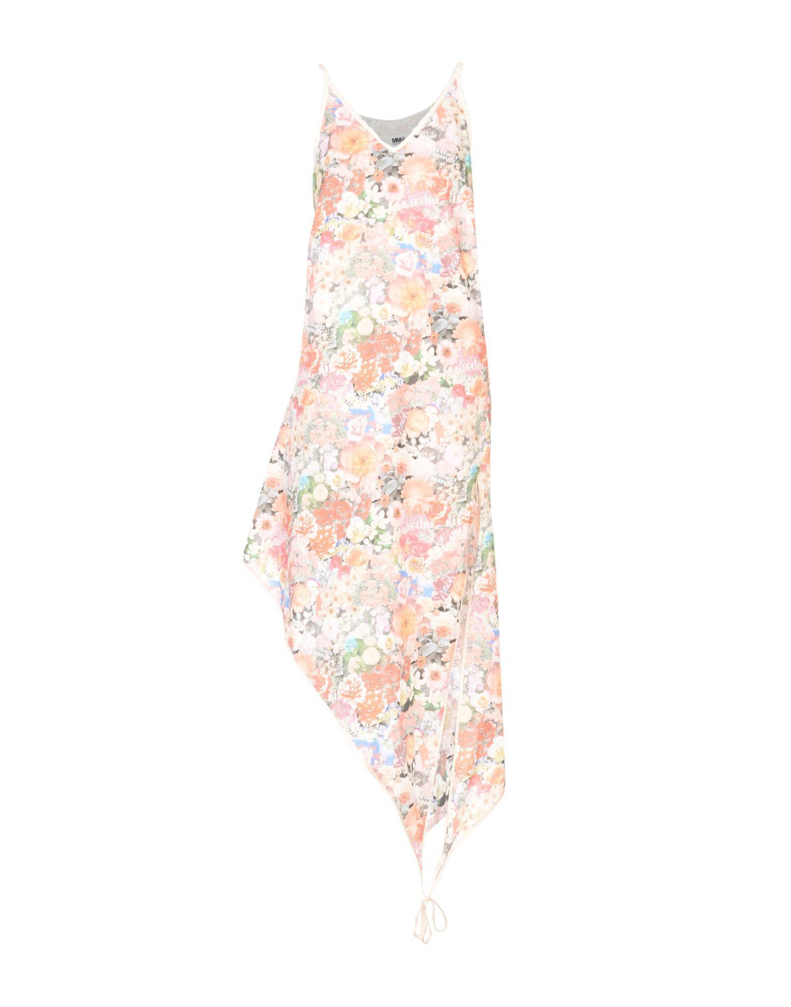 MM6 Maison Margiela Pink Floral Print Cotton Slip Dress