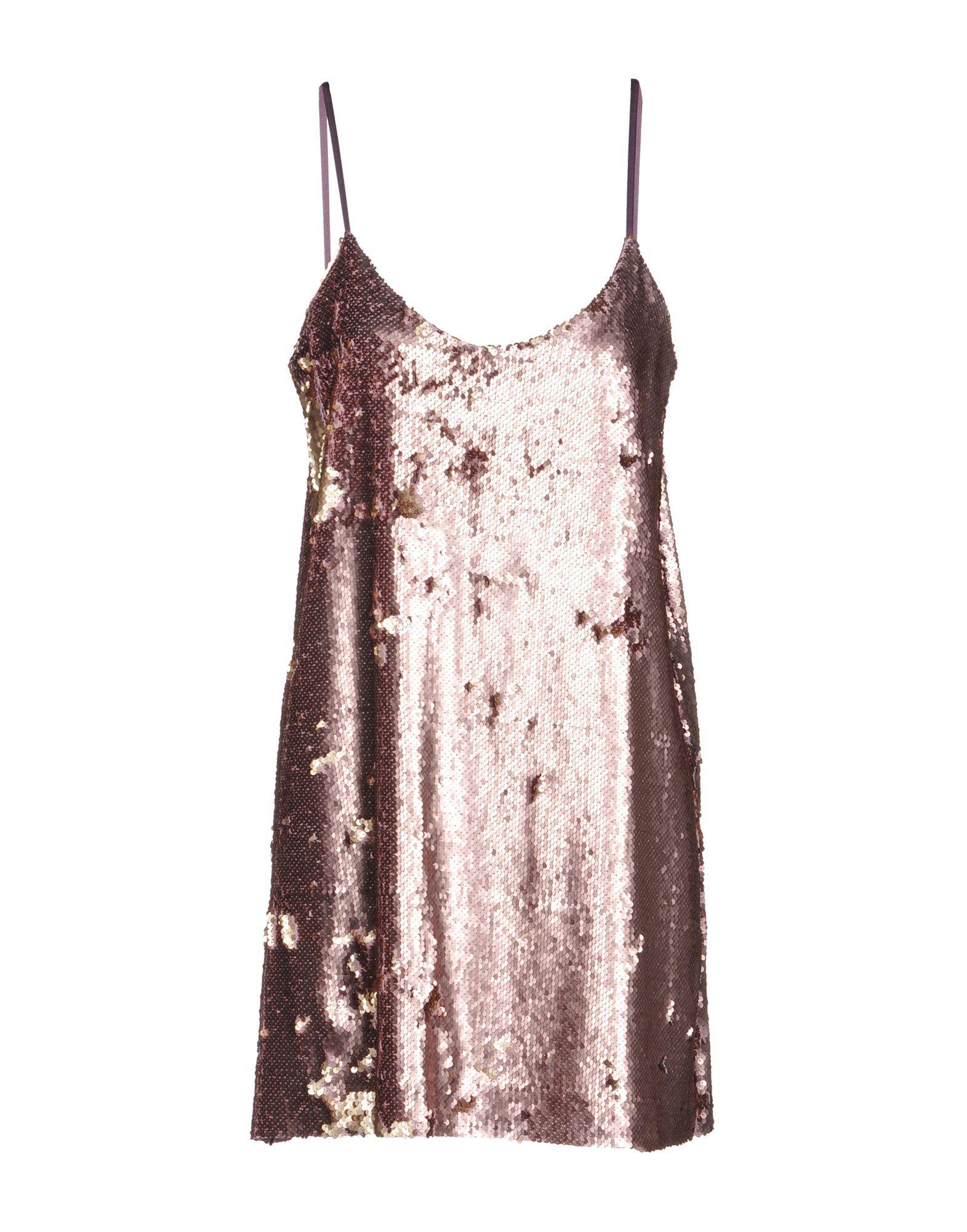 Kaos Pastel Pink Sequin Slip Dress